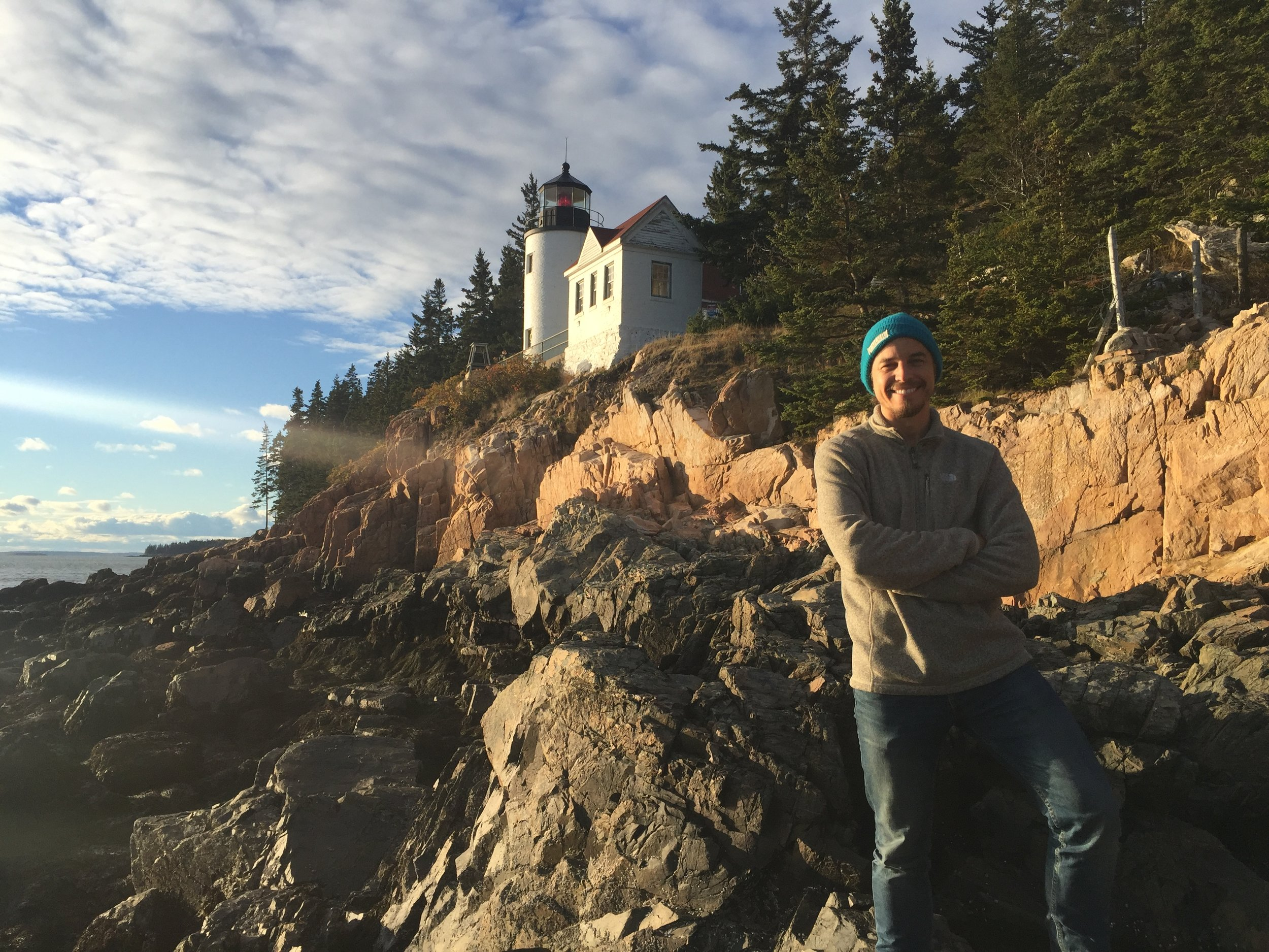 Out shooting the Bass Harbor lighthouse