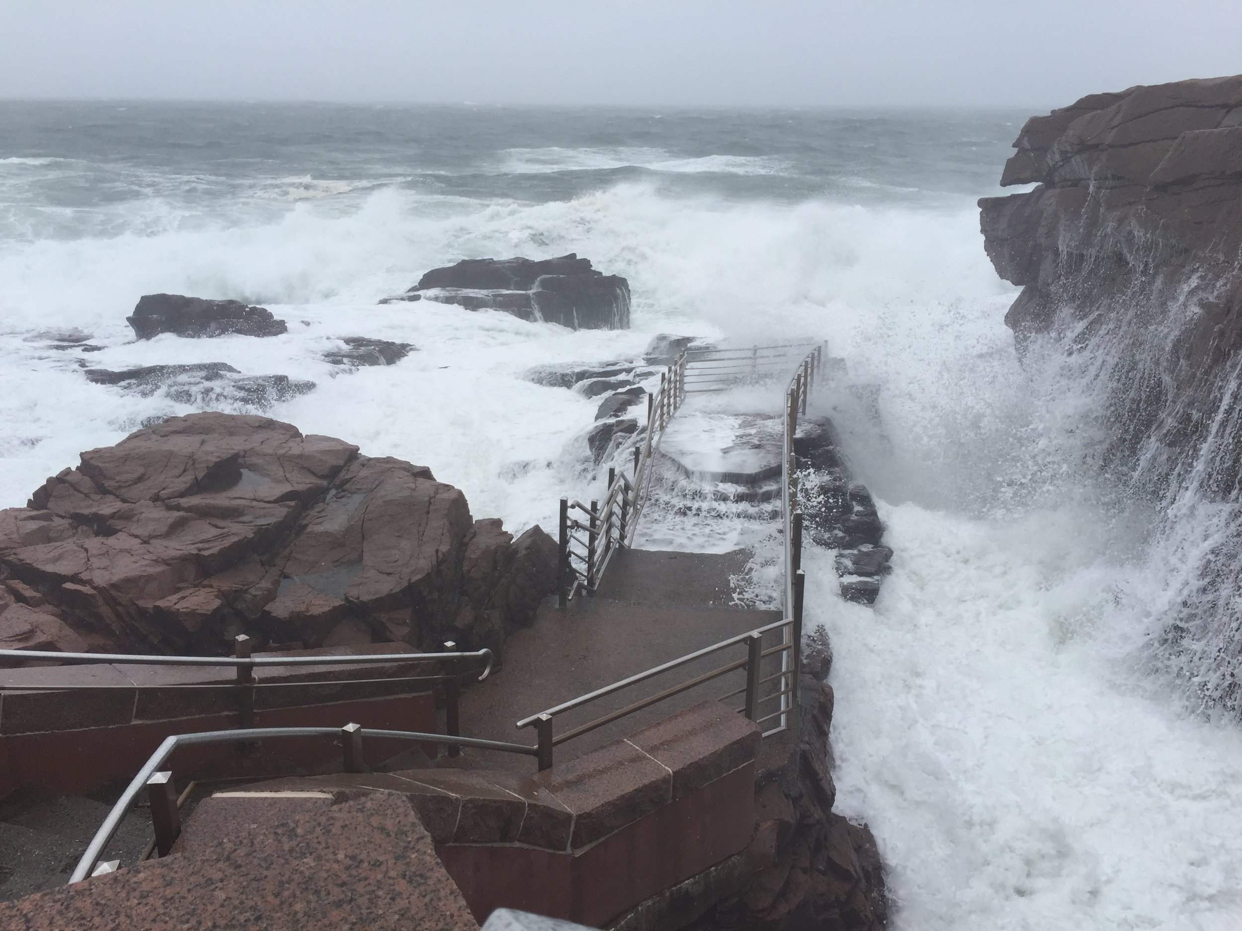 Thunder Hole during a storm - normally it's safe to walk down there