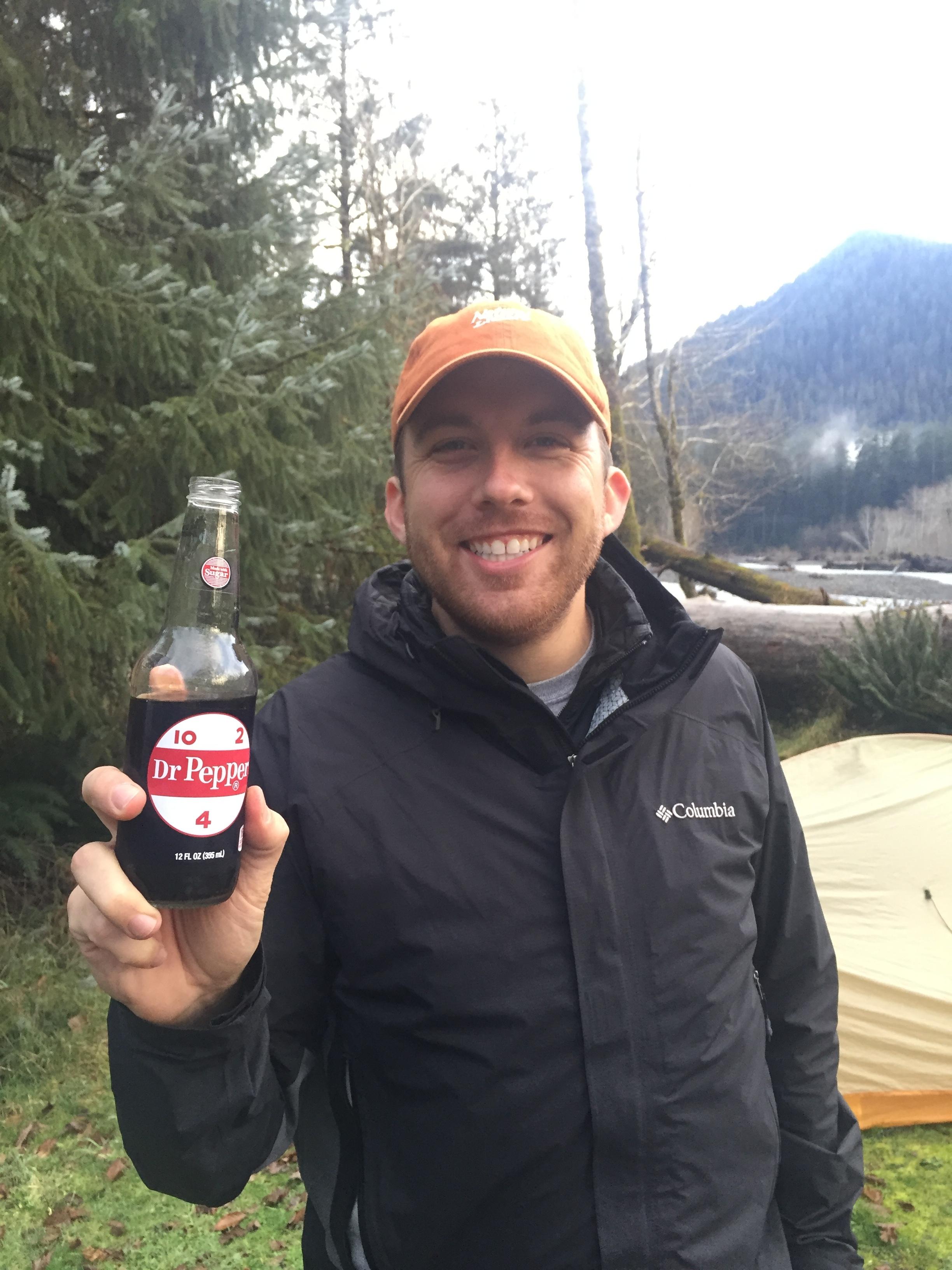 Jordan - sipping back on some light, refreshing Dr. Pepper