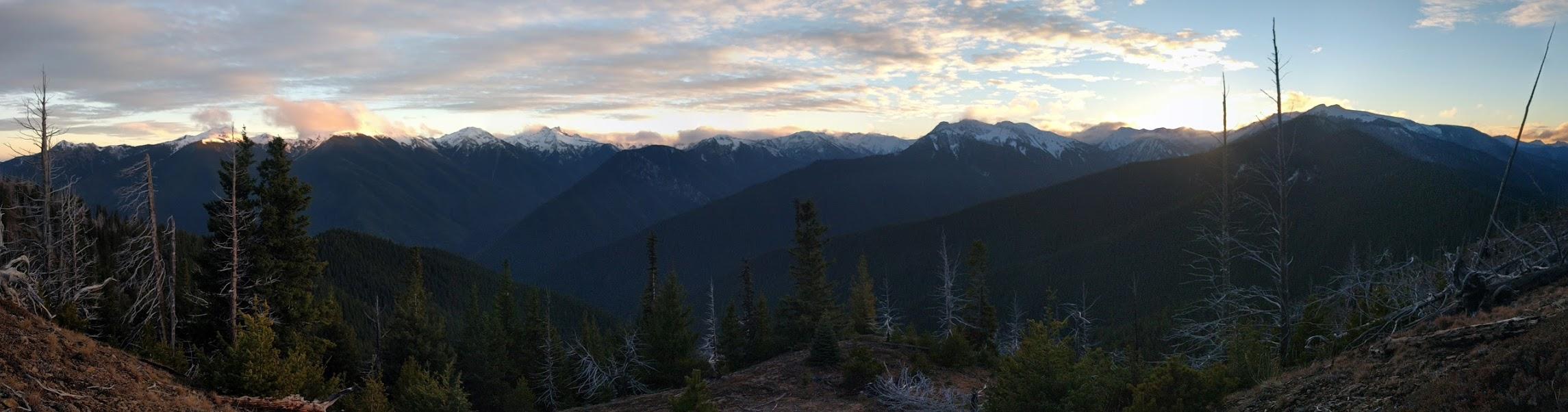 Sunset from camp. Photo courtesy of Jordan Long