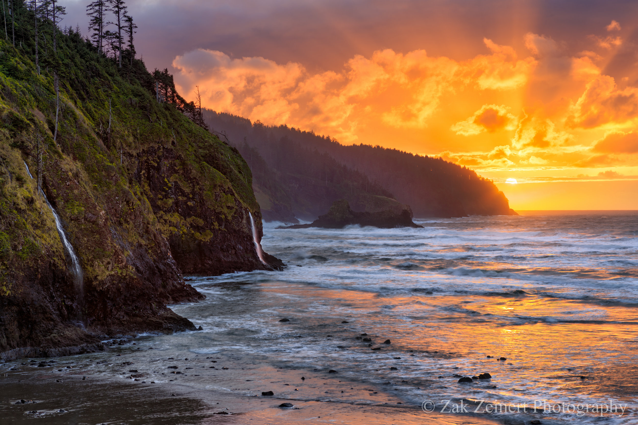 Day 2 on the Oregon Coast - Cape Lookout State Park  at Sunset