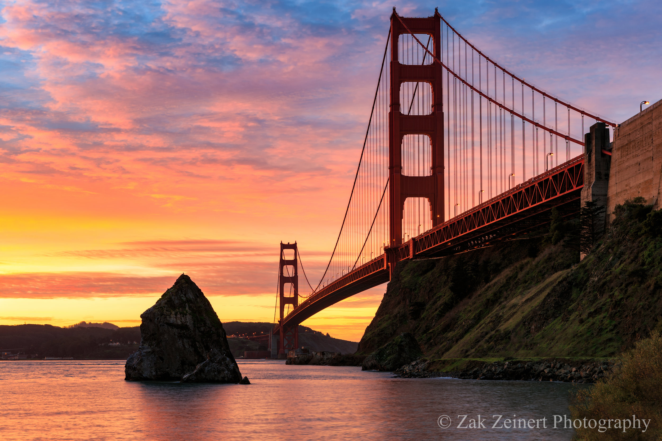 Golden Gate Bridge at Sunrise not far from where I slept the previous night