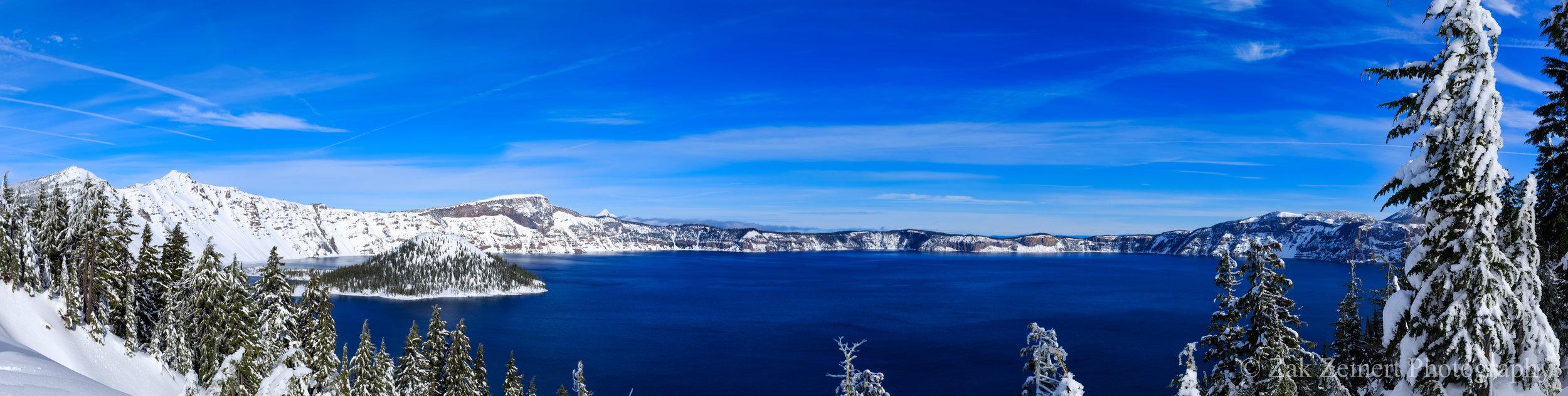 Panoramic shot of Crater Lake