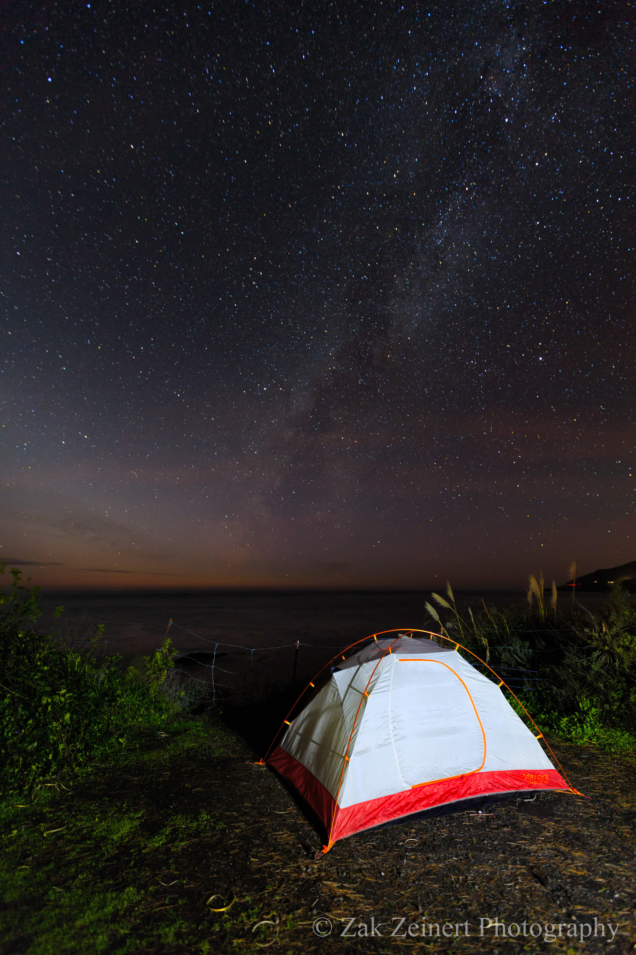My last night at Kirk Creek Campground in Big Sur