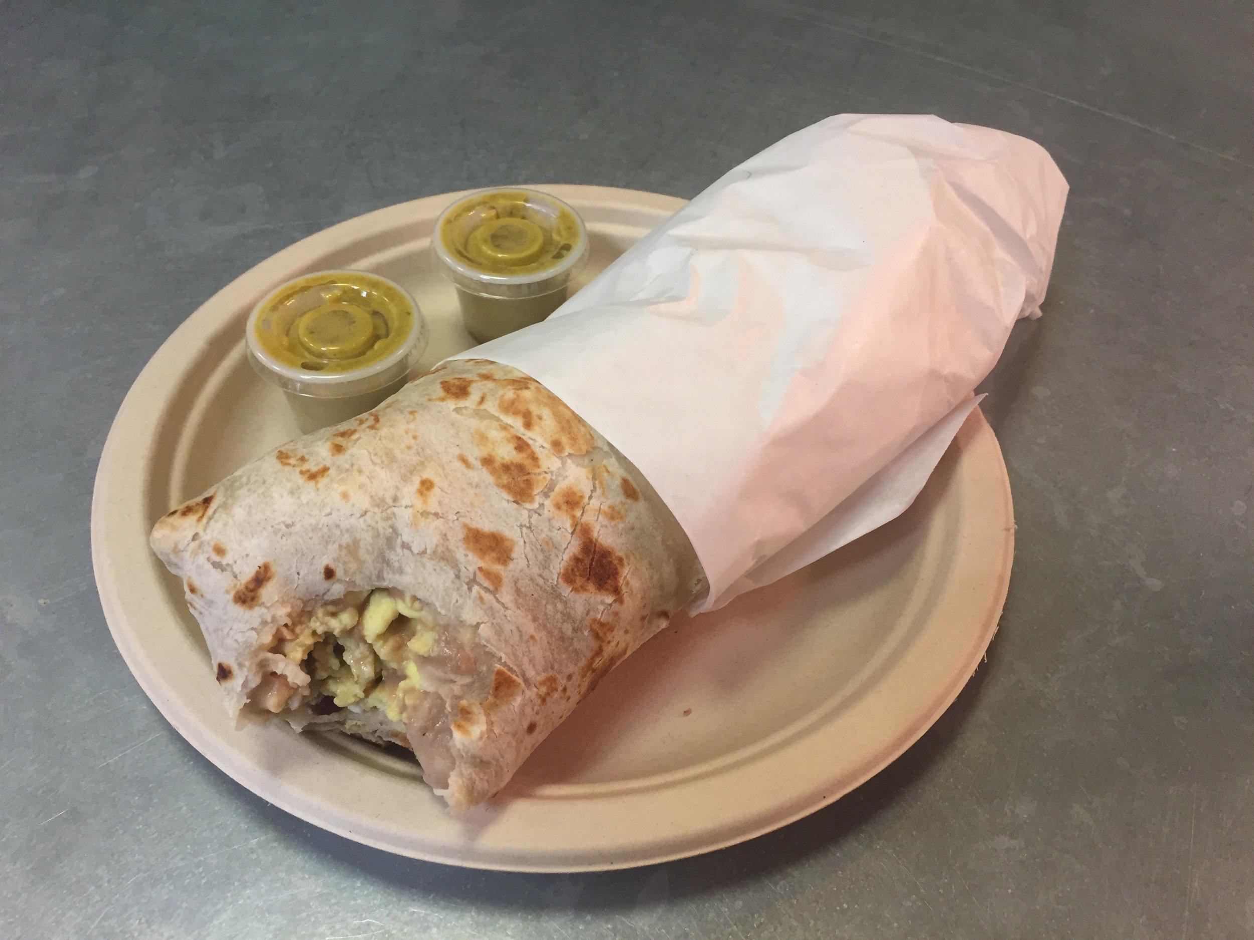 Lily's! Best breakfast burrito in California