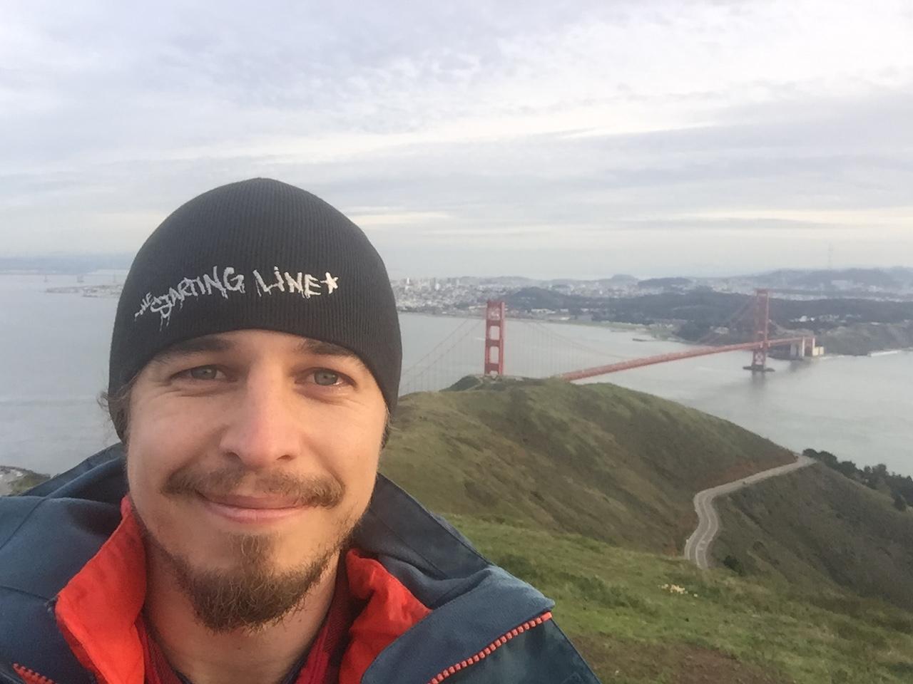 At Marin Headlands shooting the Golden Gate Bridge