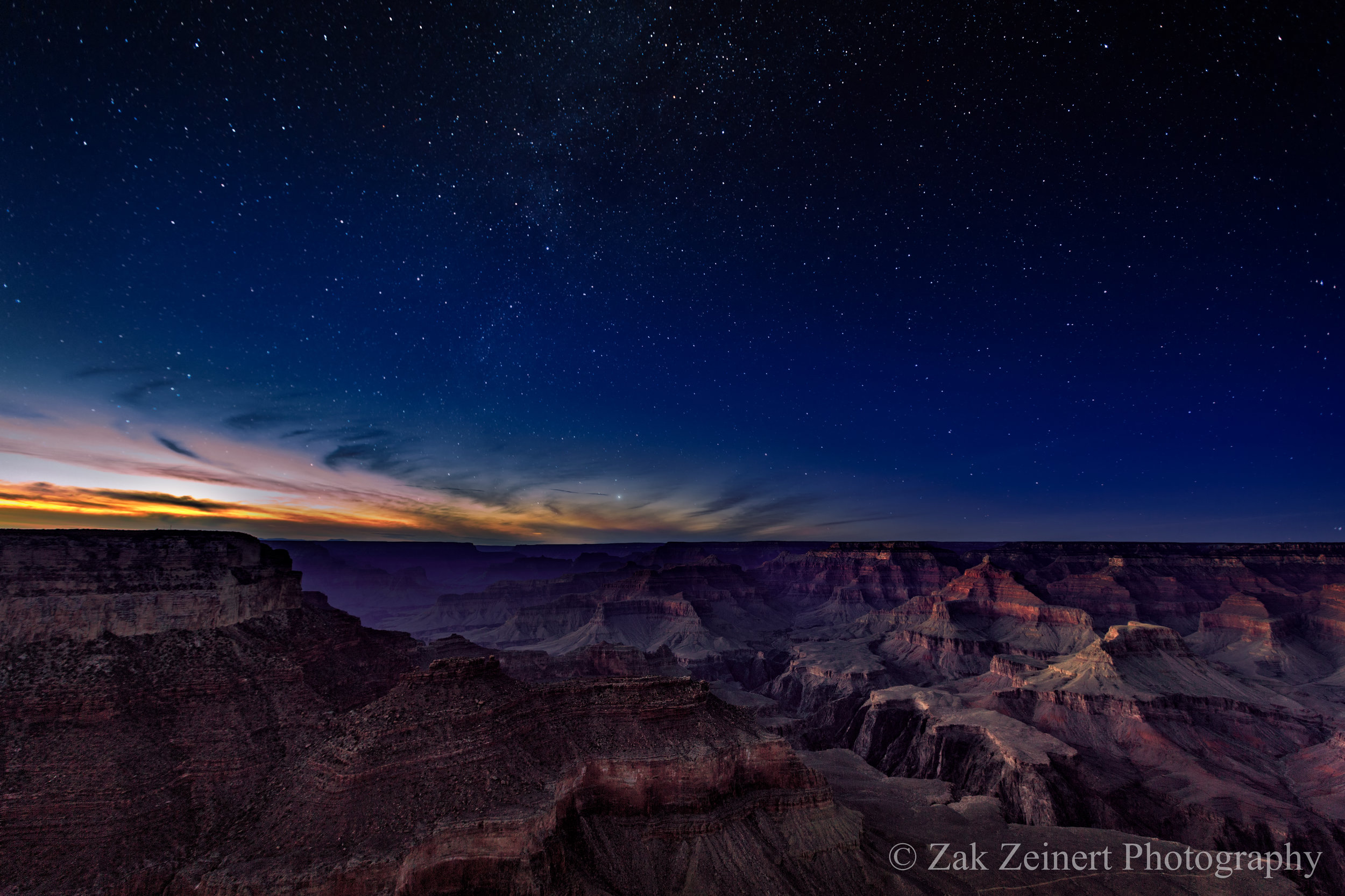 Stars over the Grand Canyon