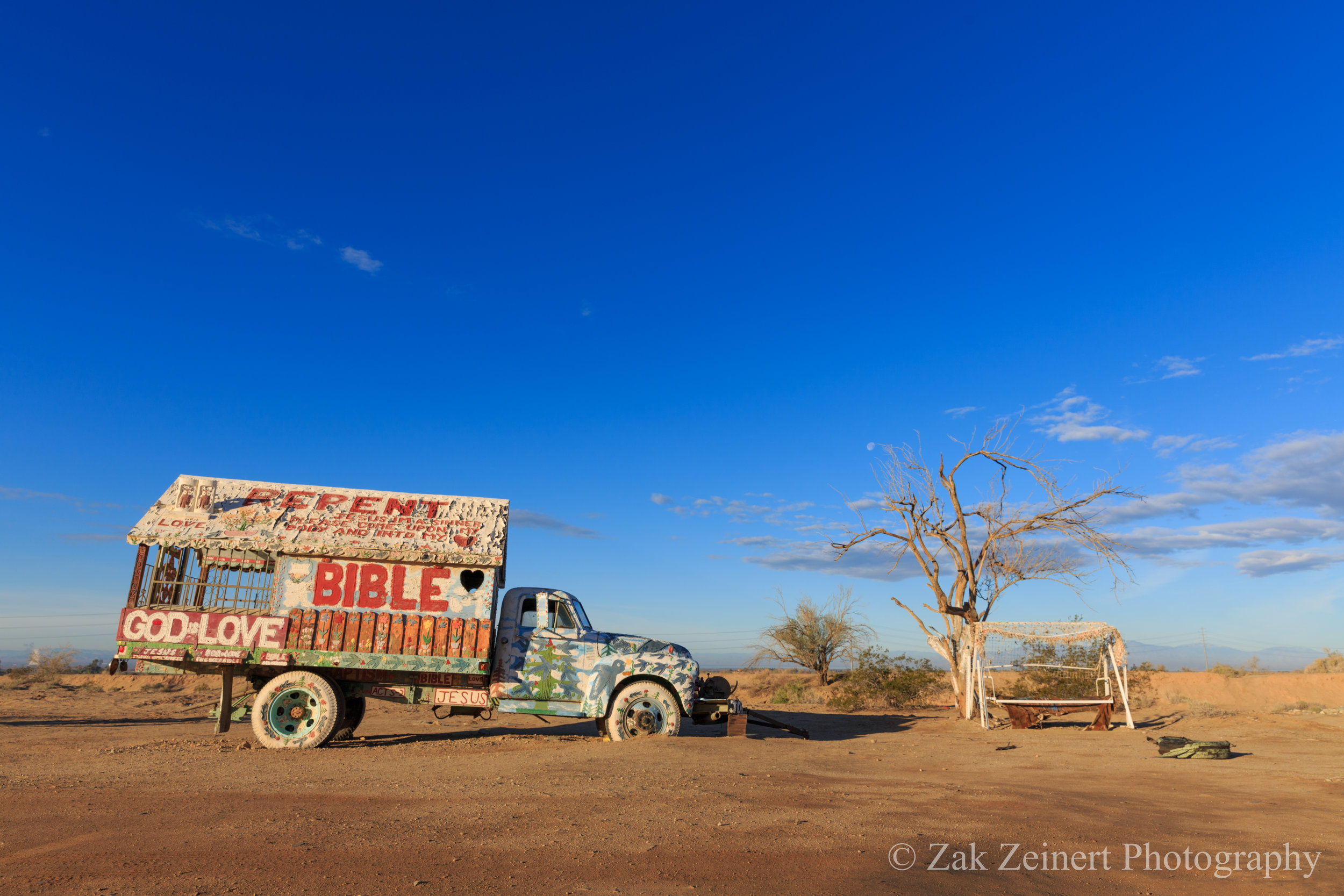 Truck at Salvation Mountain