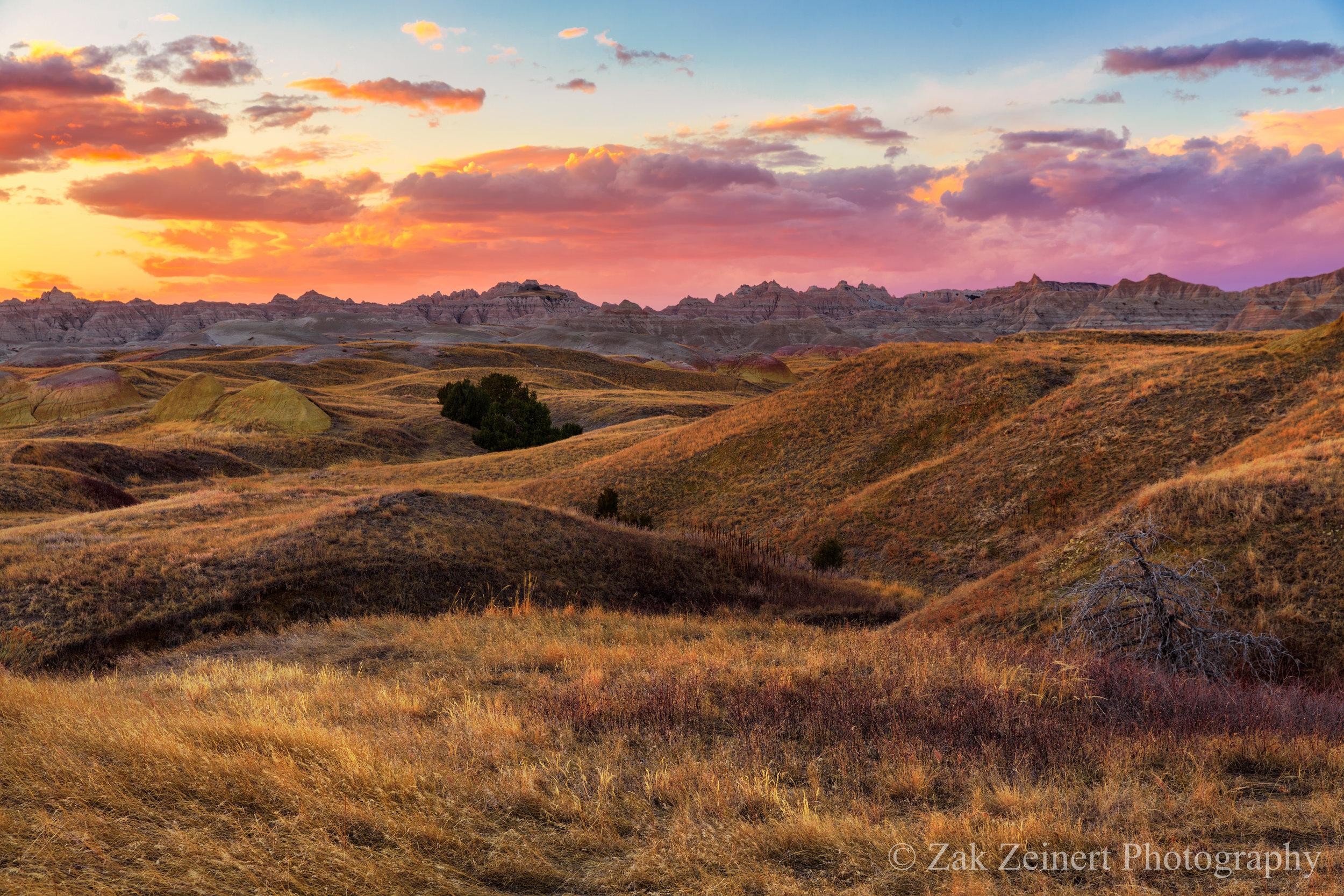 Sunset over Badlands National Park