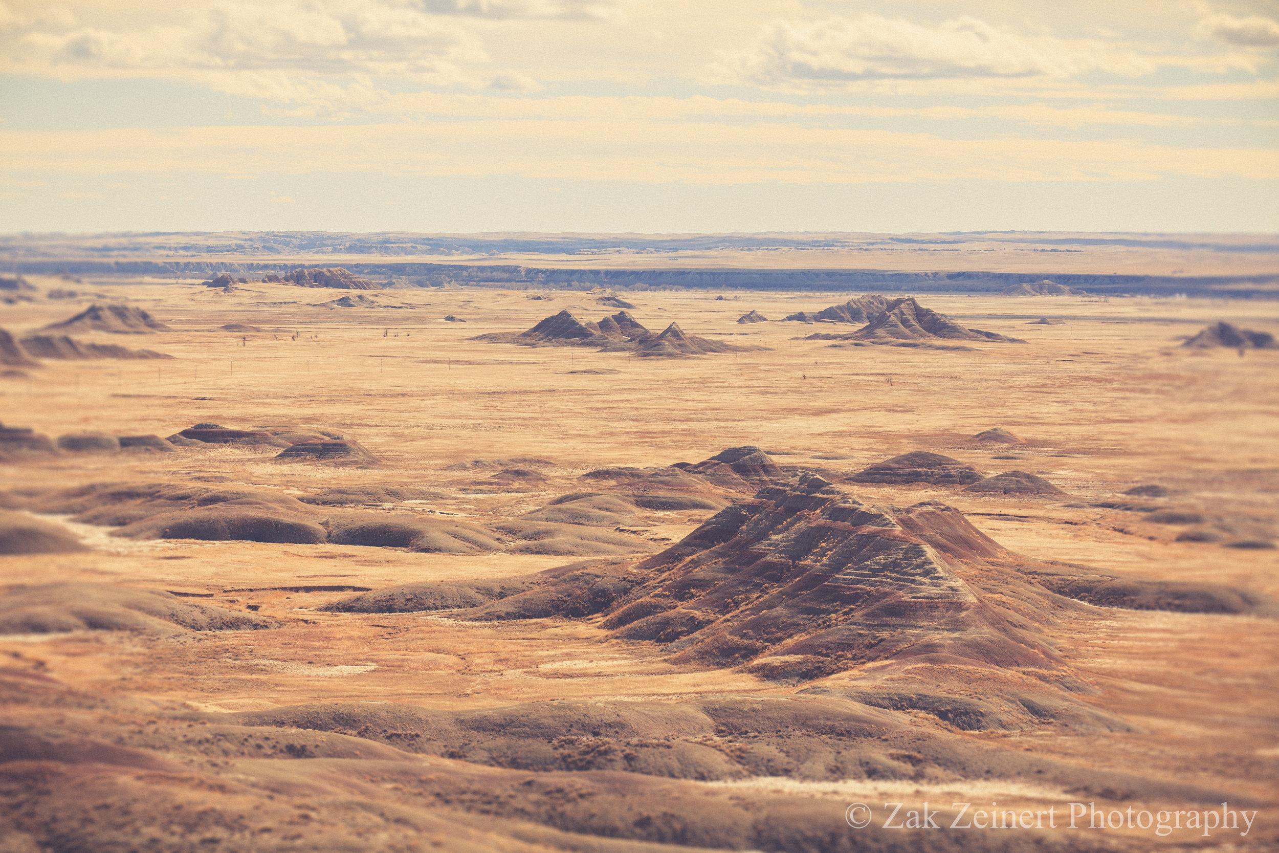 The stunning landscape of the Badlands