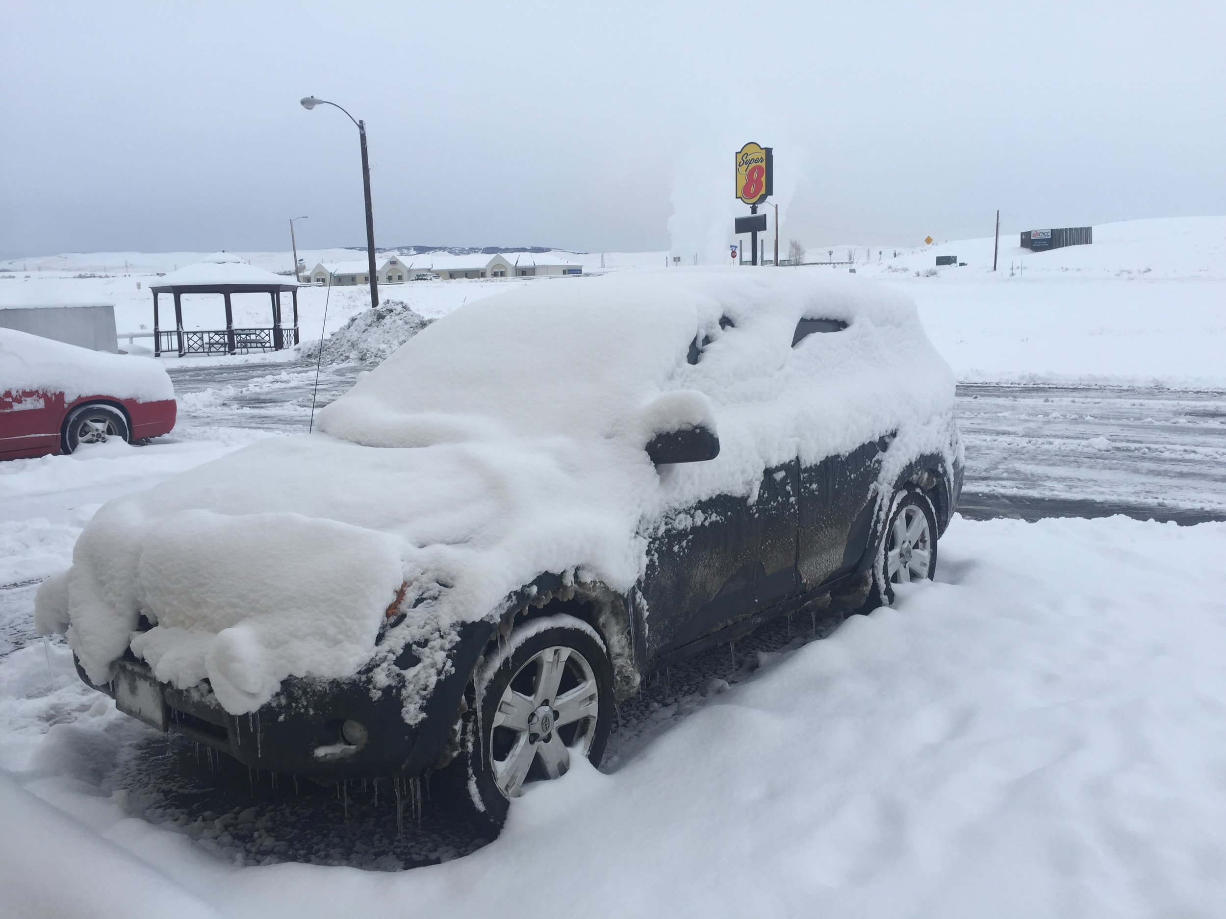 My car the morning after the snow storm