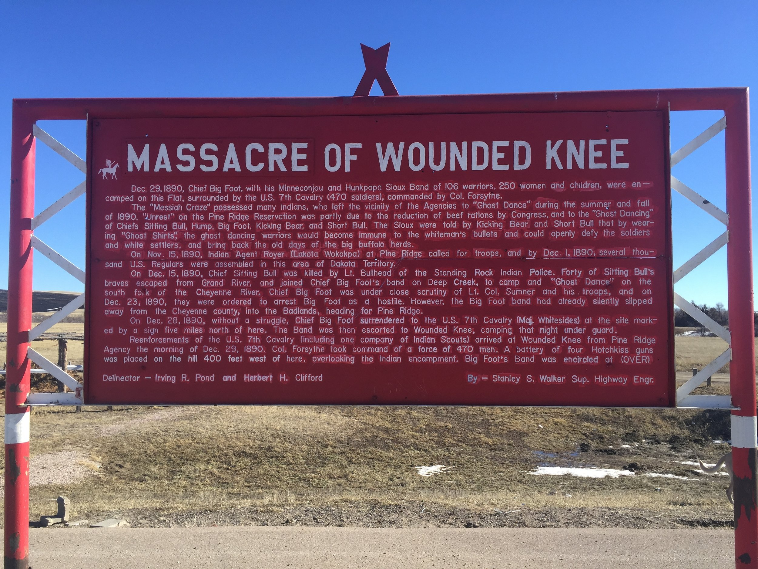 The history of Wounded Knee