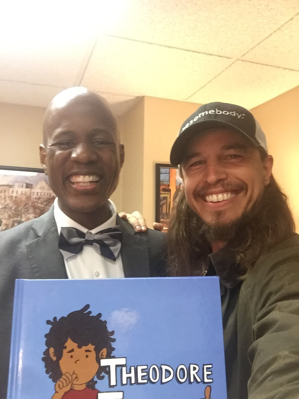 My old college English teacher, the famous Stephen Moore. He recently published a children's book about bullying called Theodore Thumbs. You can check it out and/or buy it here:https://www.clearforkpublishing.com/our-store/theodore-thumbs/