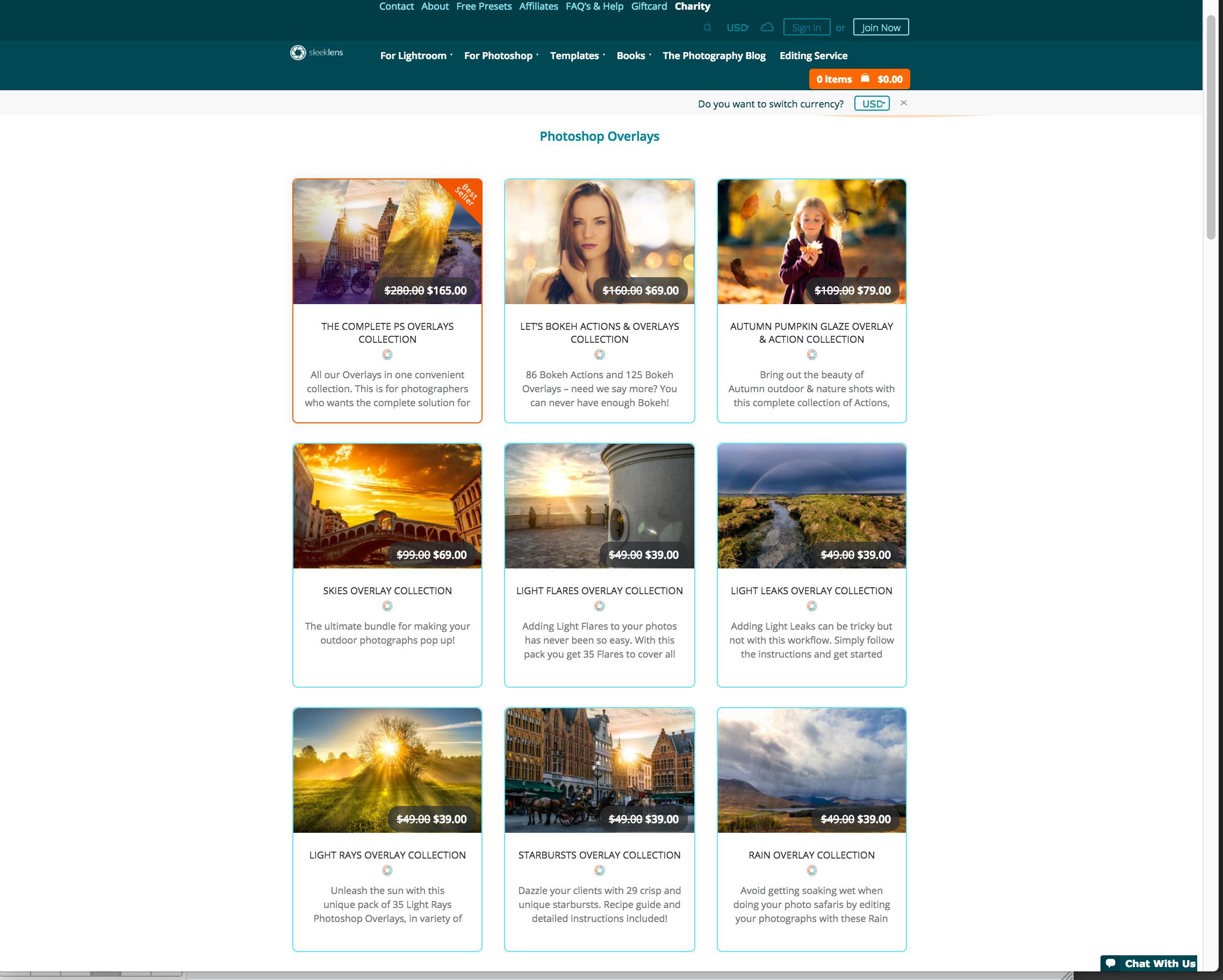 SleekLens.com Photoshop Overlays