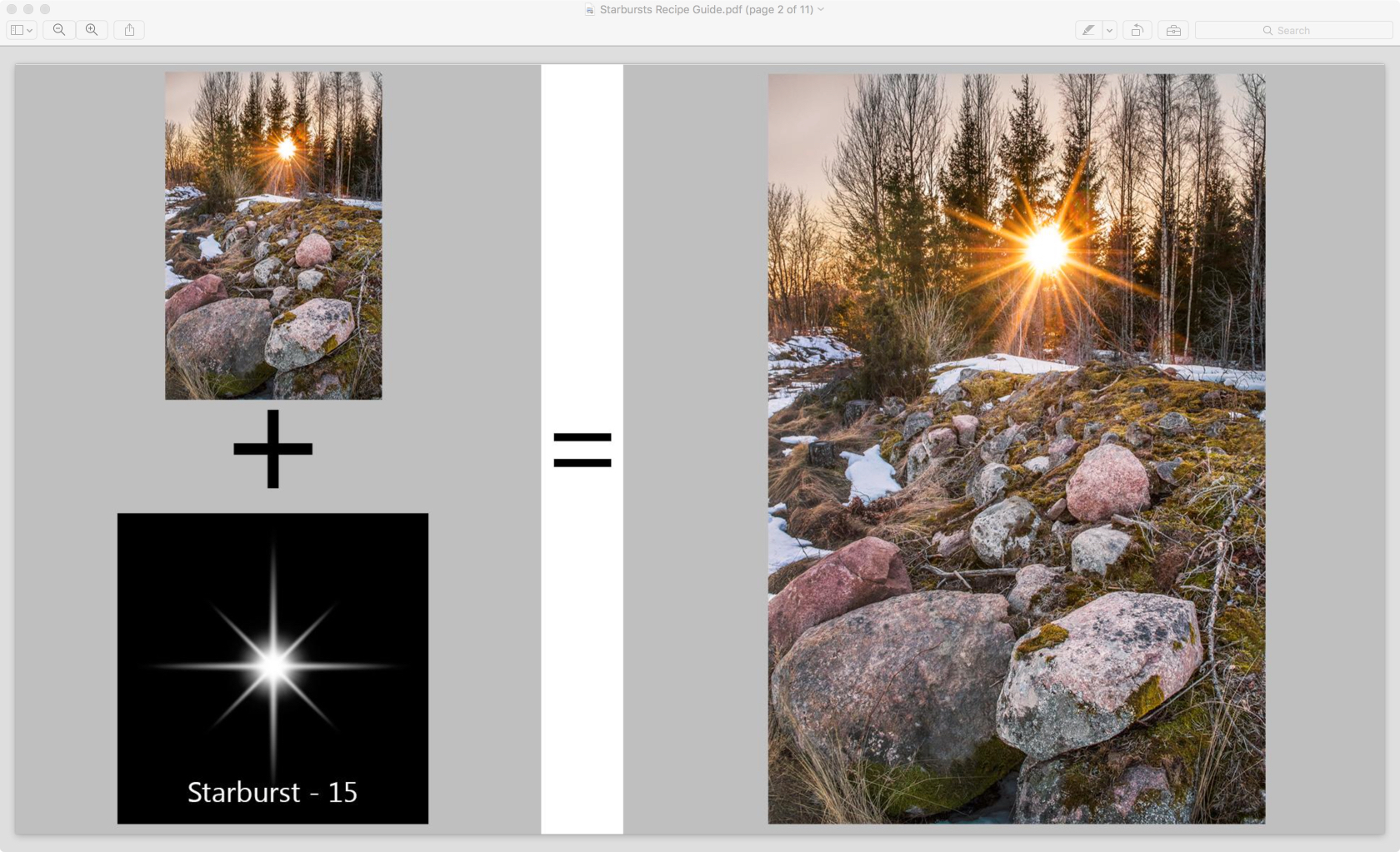 included sample image with overlay