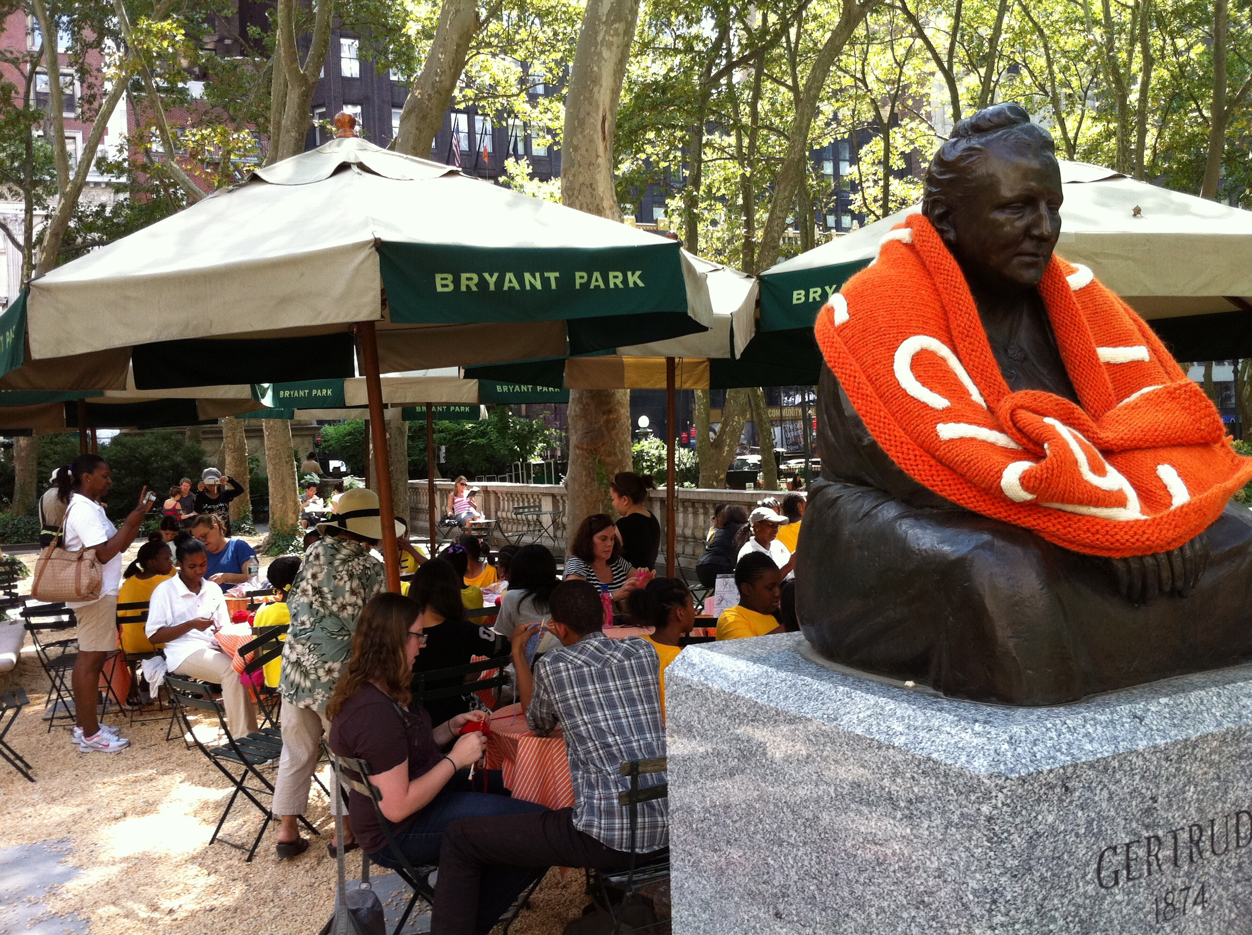 Knitting at Bryant Park