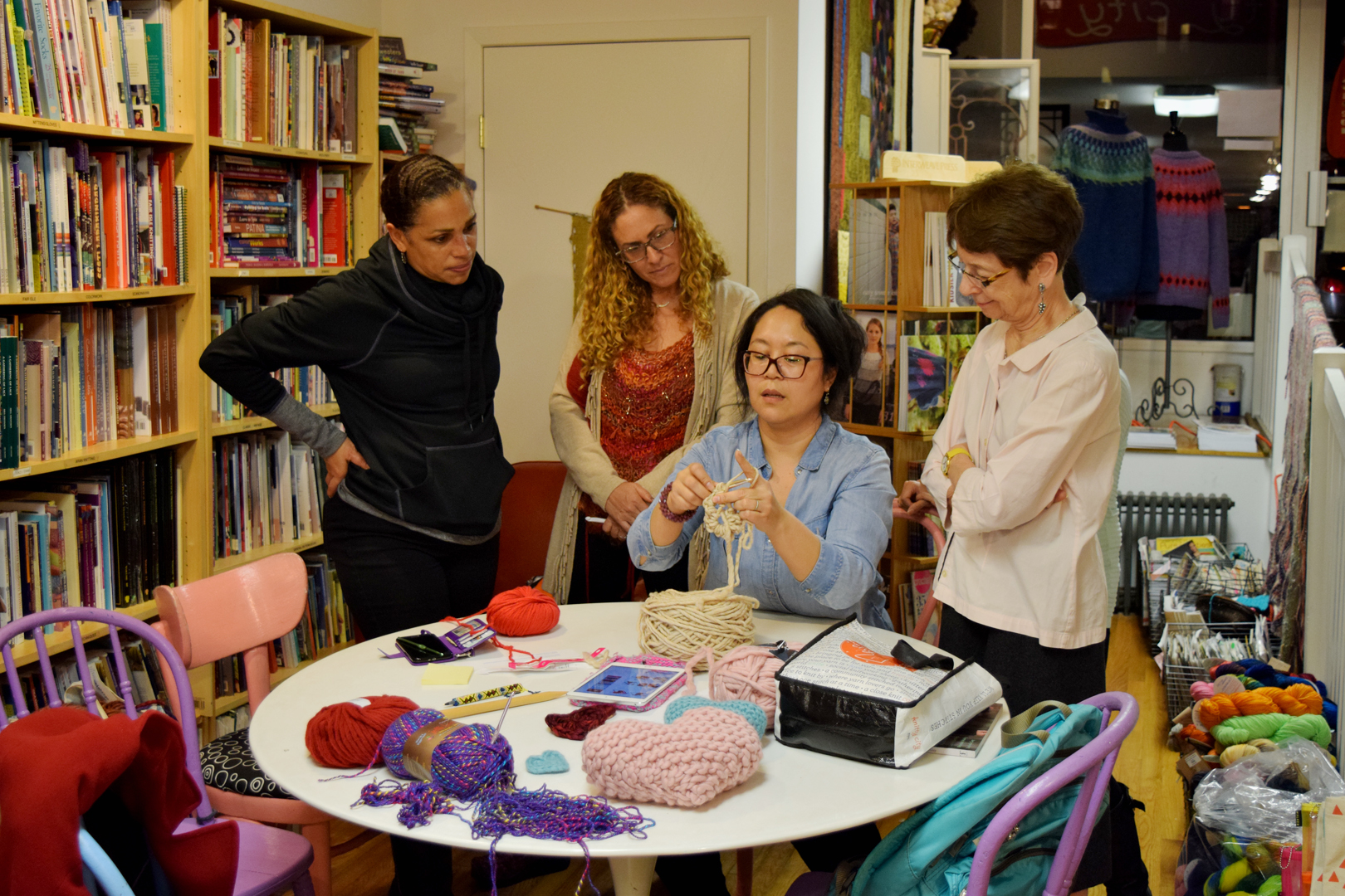 Crocheting Hearts with Nancy