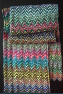 Zick Zack Pattern :Knit in Lang's Mille Colori Baby