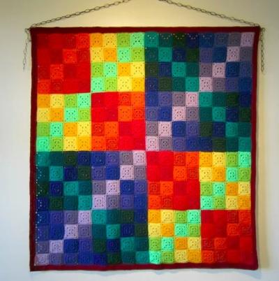 Finite field  : crochet representation of a finite field Photograph: Pat Ashforth