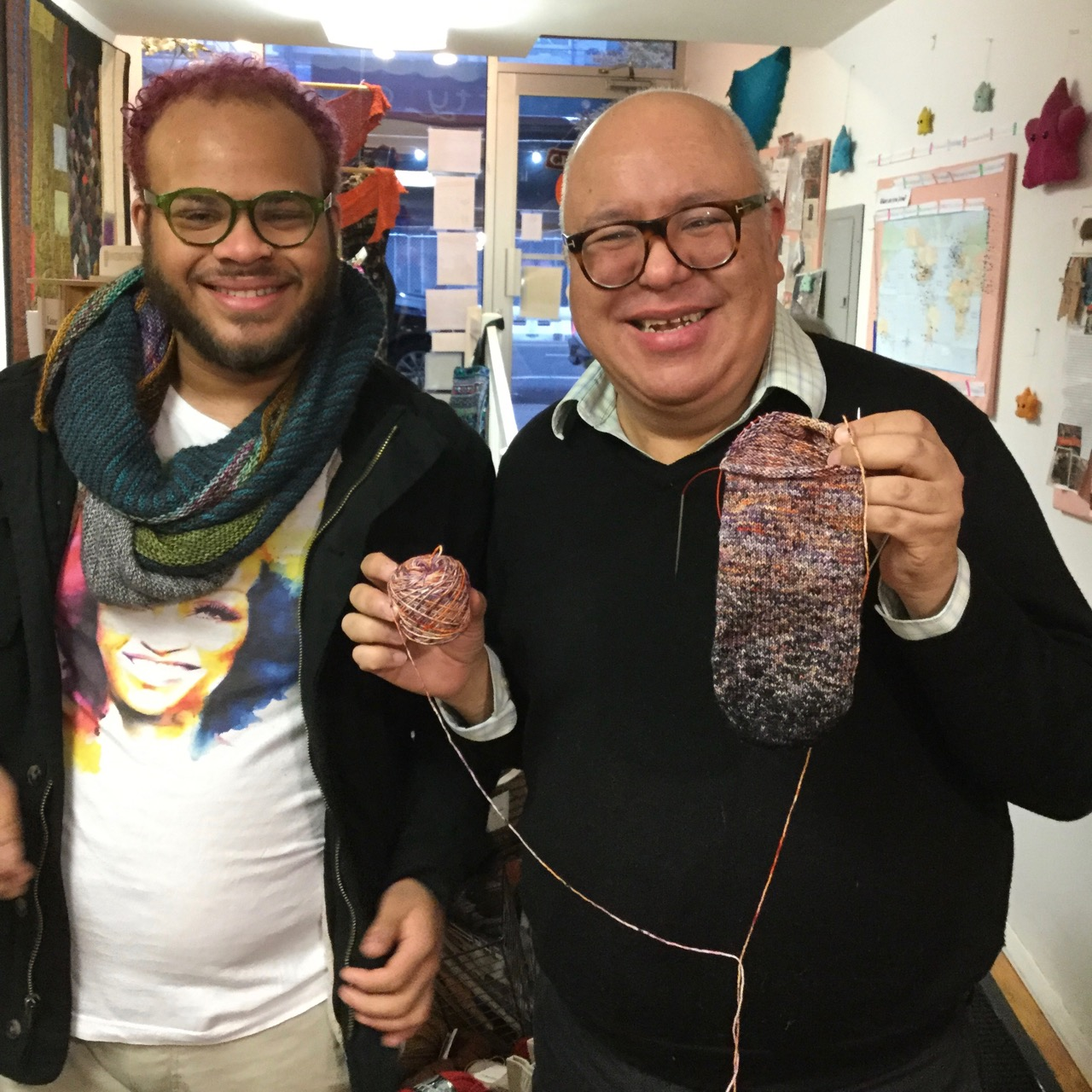 Daniel loves working with his Ombre Sock Duo yarn by AlexCreates.