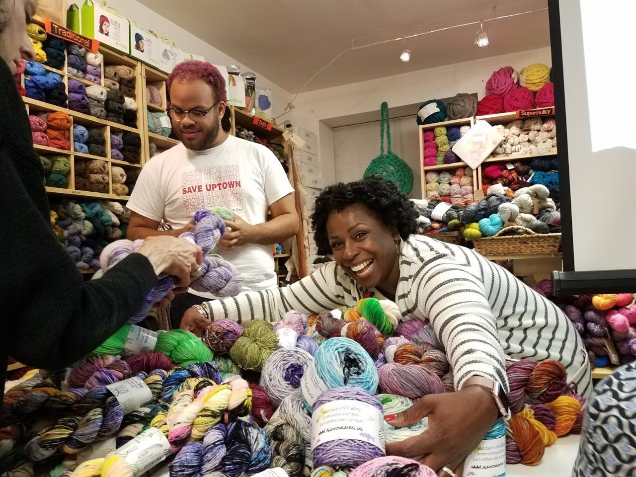 Cecilia is loving on AlexCreates yarns!
