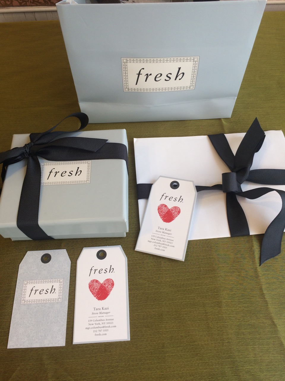 Auction Item 4: Soiree for 6 mini facials & hand treatment and a bottle of champagne at  Fresh - Columbus Avenue .  Value: $500.--  Company:  Fresh