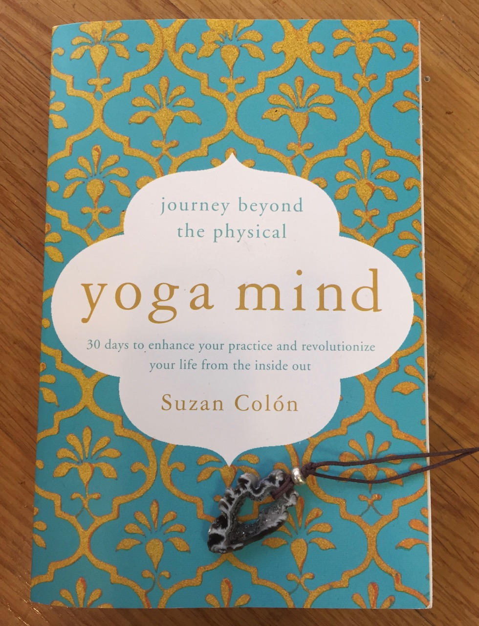 Autographed copy of Yoga Mind by  Suzan Colon  and a free private Yoga lesson.  Value: $175   VeryNYC  Geode Necklace  Value: $25.-  Minimum Bid $50.-, increments of $25.-