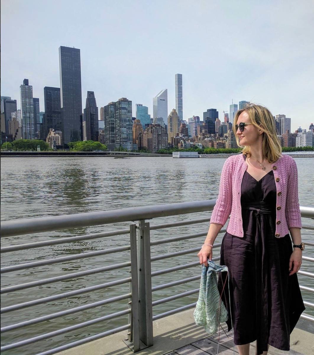 Knitter Inga from Estonia living in NYC