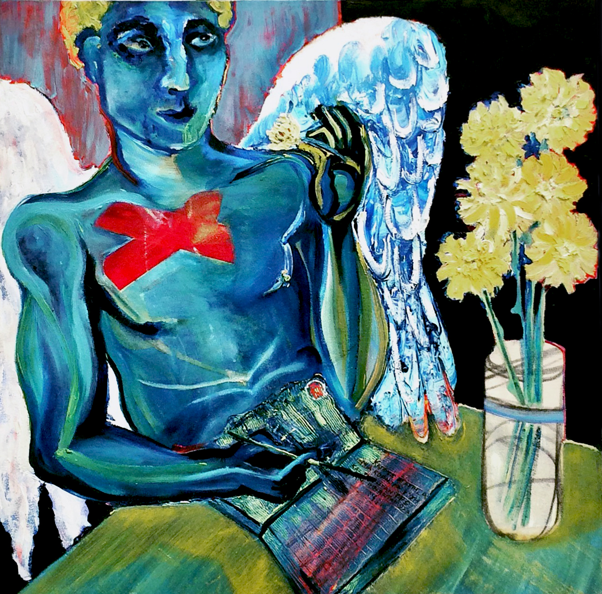 The Poet of Love   Oil on canvas, 60x60 cm / 23x23 inches