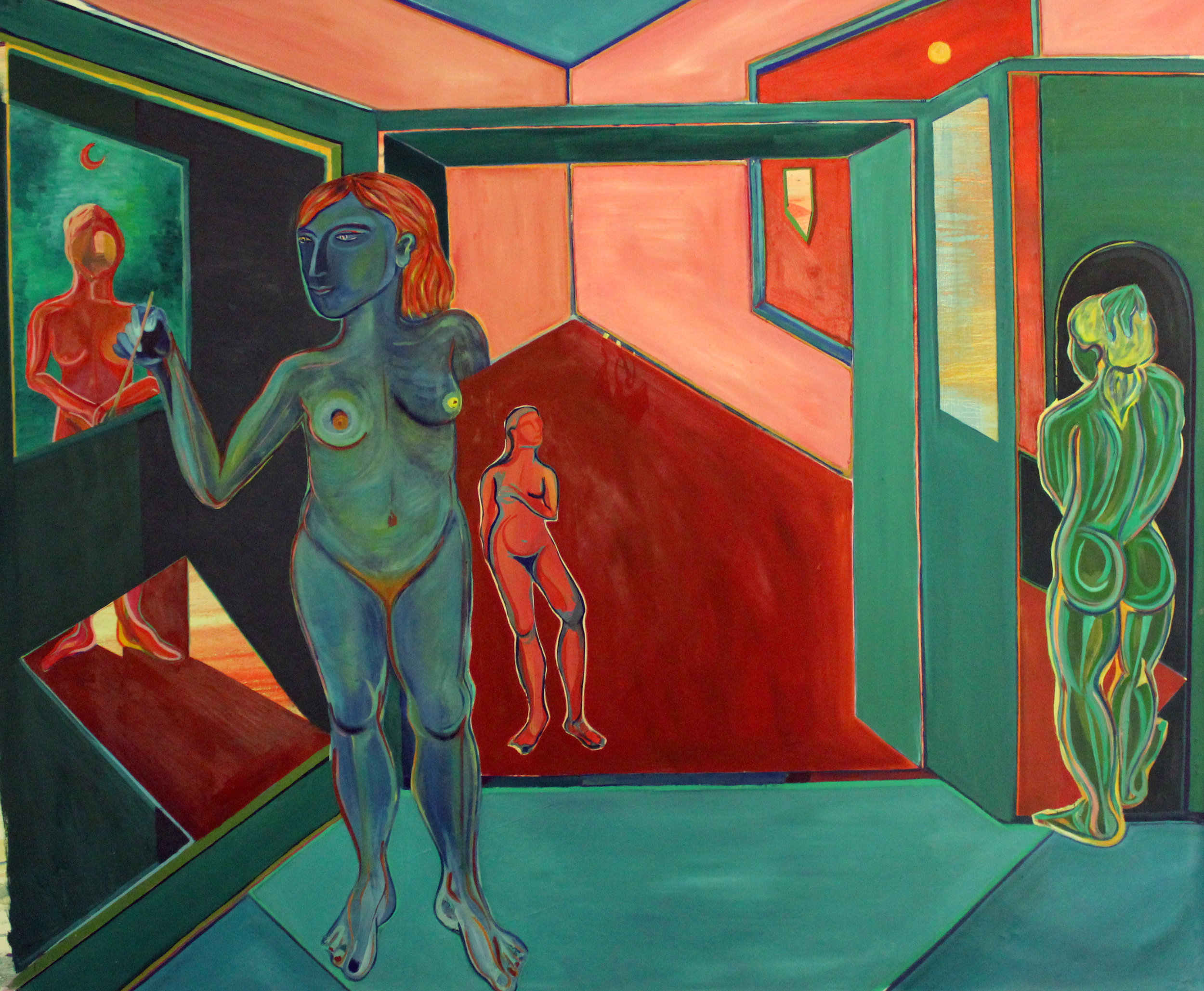 The Dream of Creation   Oil on canvas, 2,30x1,69 m / 7.5x5.5 ft