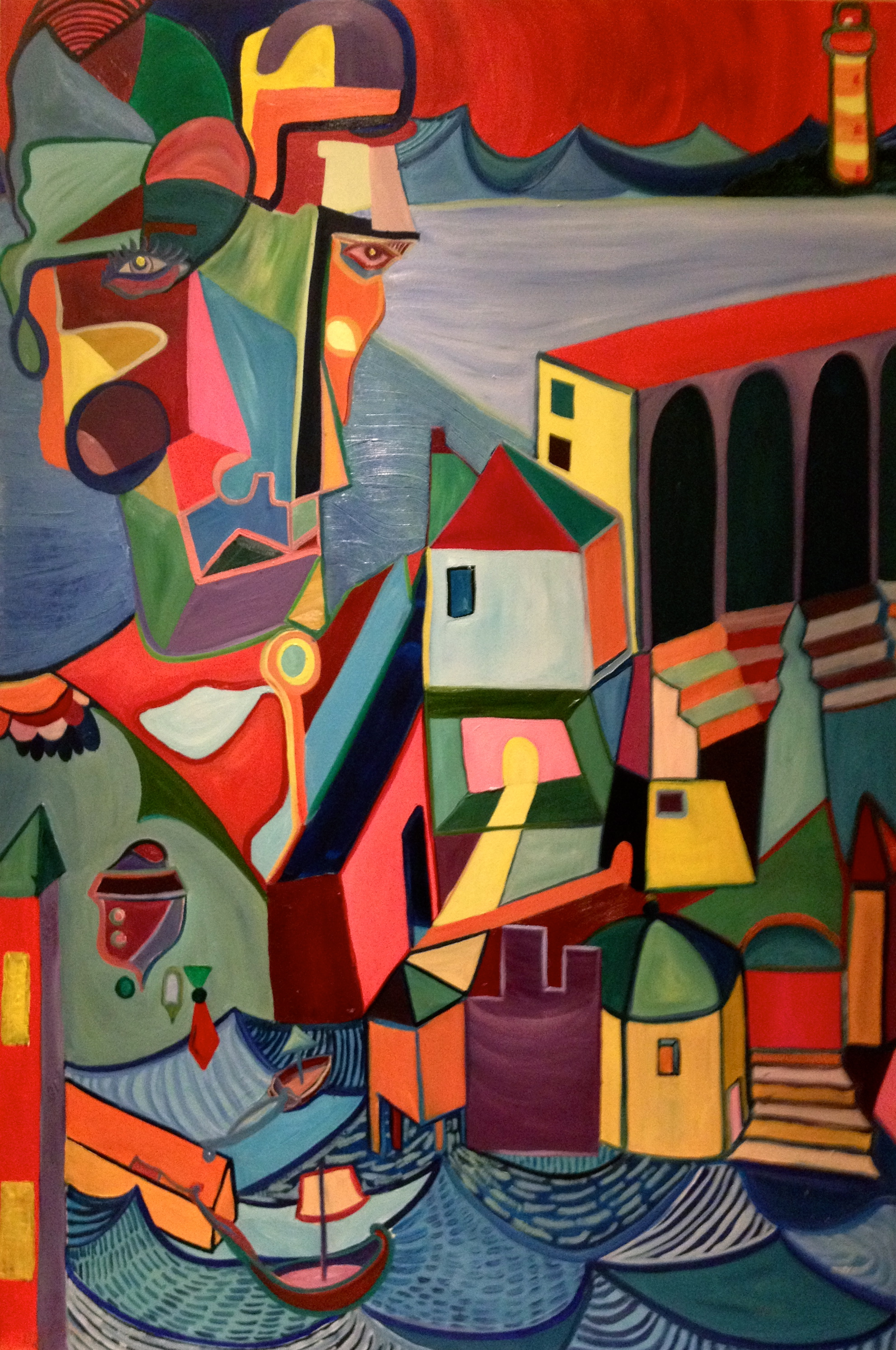 Protector of the City   Oil on Canvas,1,18 m x 1, 73 m / 3.8x5.6 ft