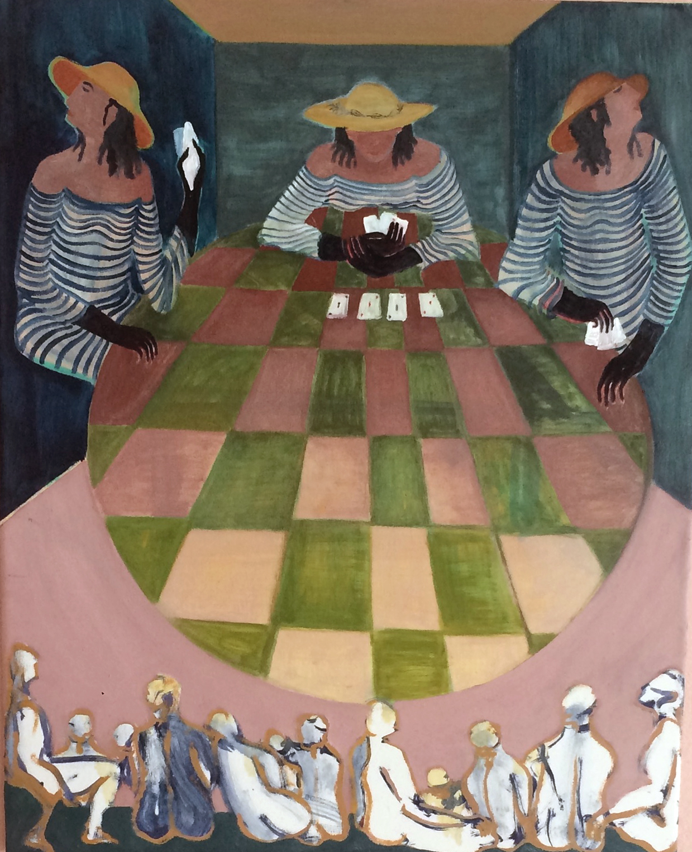 Theatre of the Fates  Oil on canvas, 45x55cm / 17,7x21,6 inches