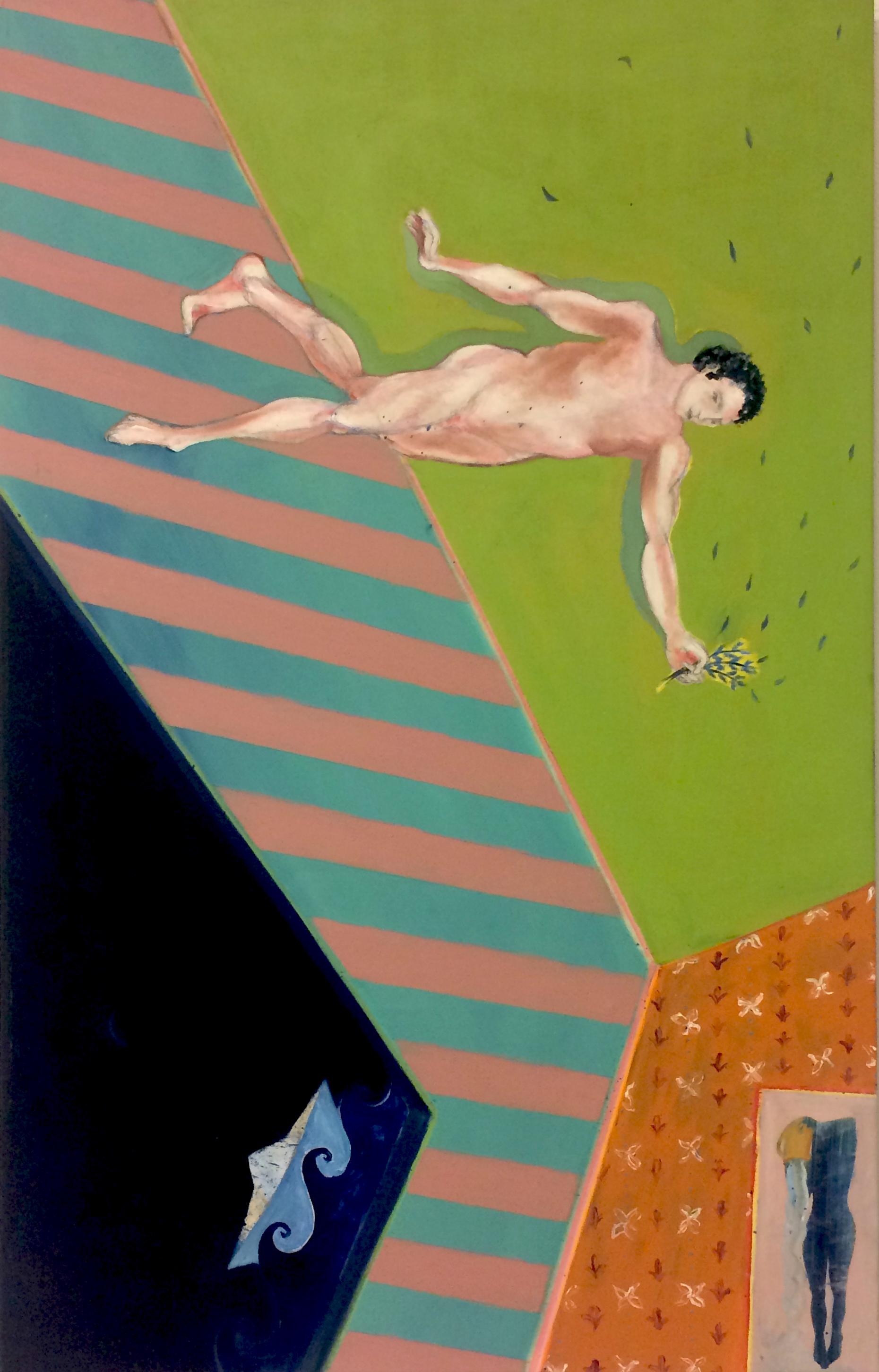 Irinoforos (Peace Carrier)   Acrylic and oil on canvas, 70x110cm / 27,5x43,3 inches