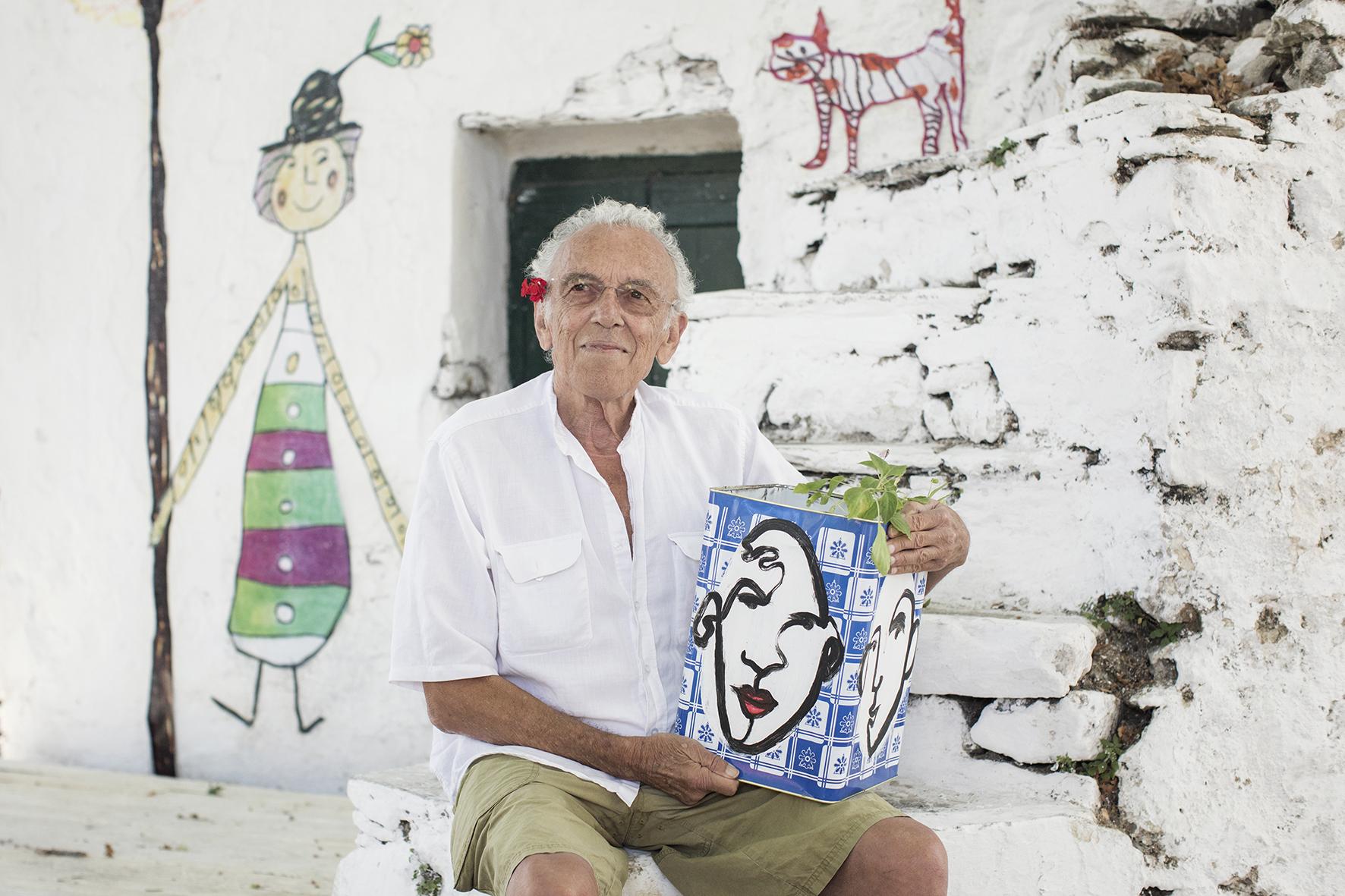 On Set, Director George Panousopoulos  Photo by Margarita Nikitaki  Drawings by Kyvèli Zoi