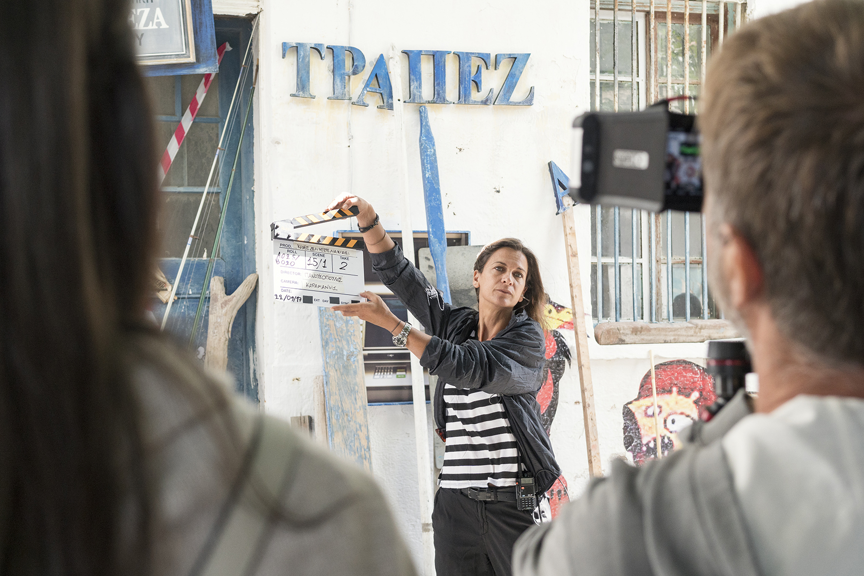 On Set, Assistant Director: Emannuela Fragiadaki  Photo by Margarita Nikitaki  Drawings by Kyvèli Zoi
