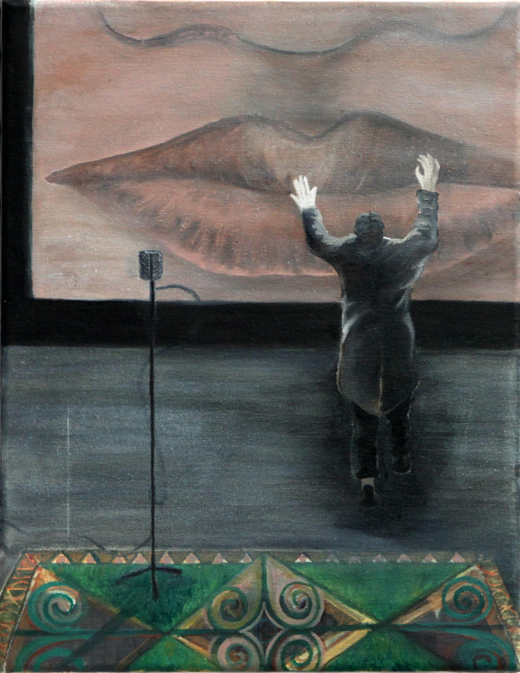 Don Juan No3 // Admiration of the Image   Oil on canvas, 35x45 cm