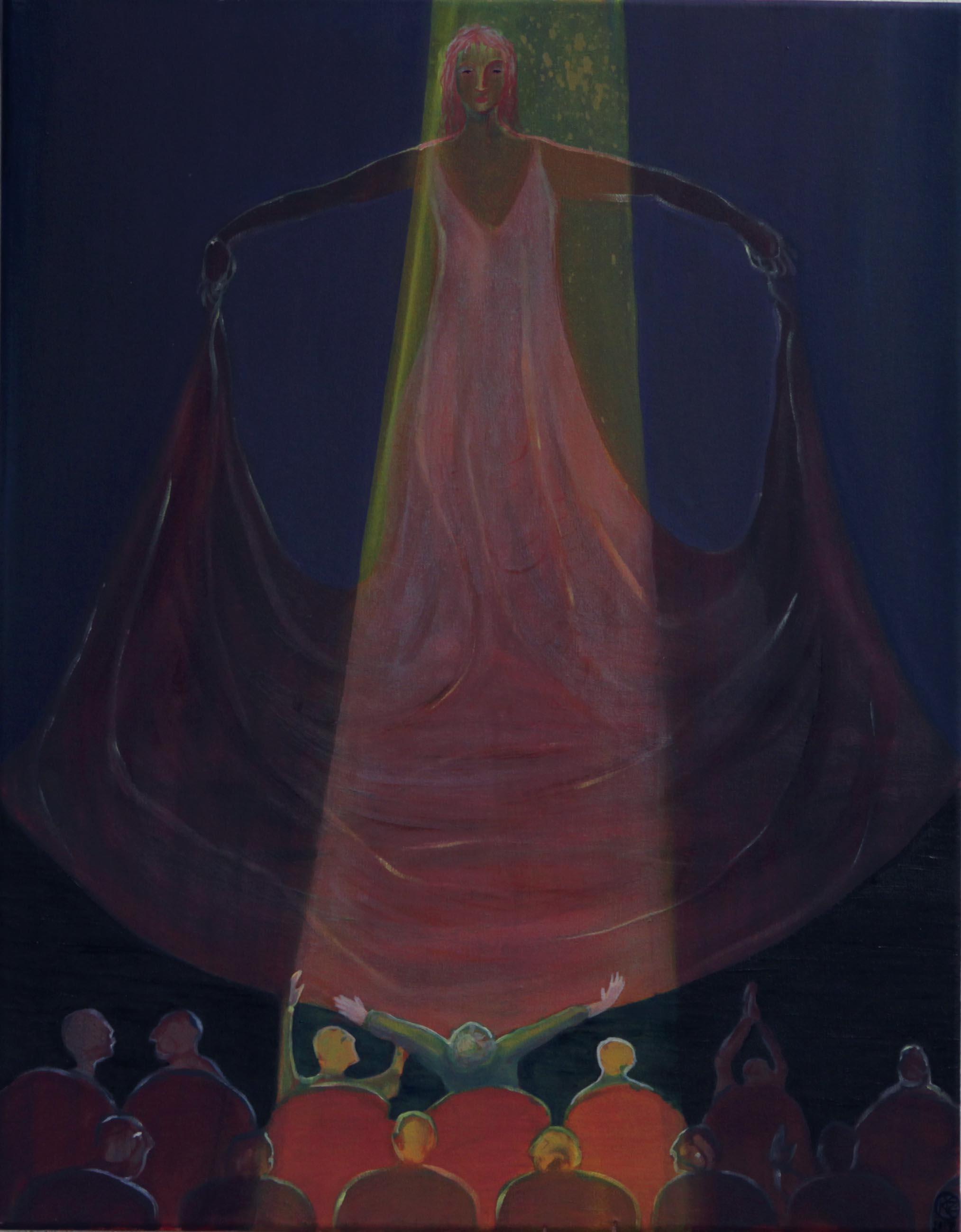 The Magic of Theatre    Oil on canvas, 70x55 cm