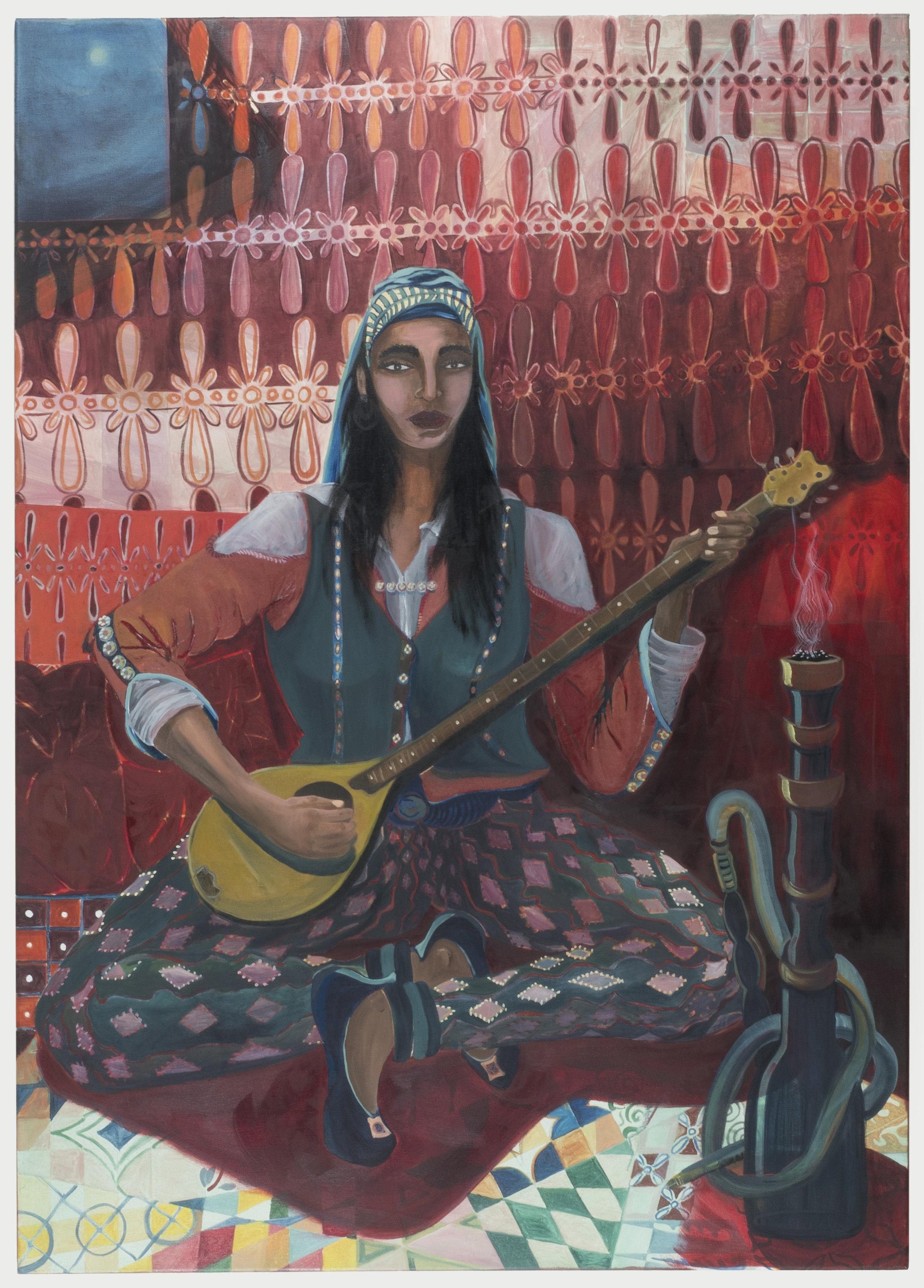 Dervish Girl Smoking Hash   180 x 120 cm