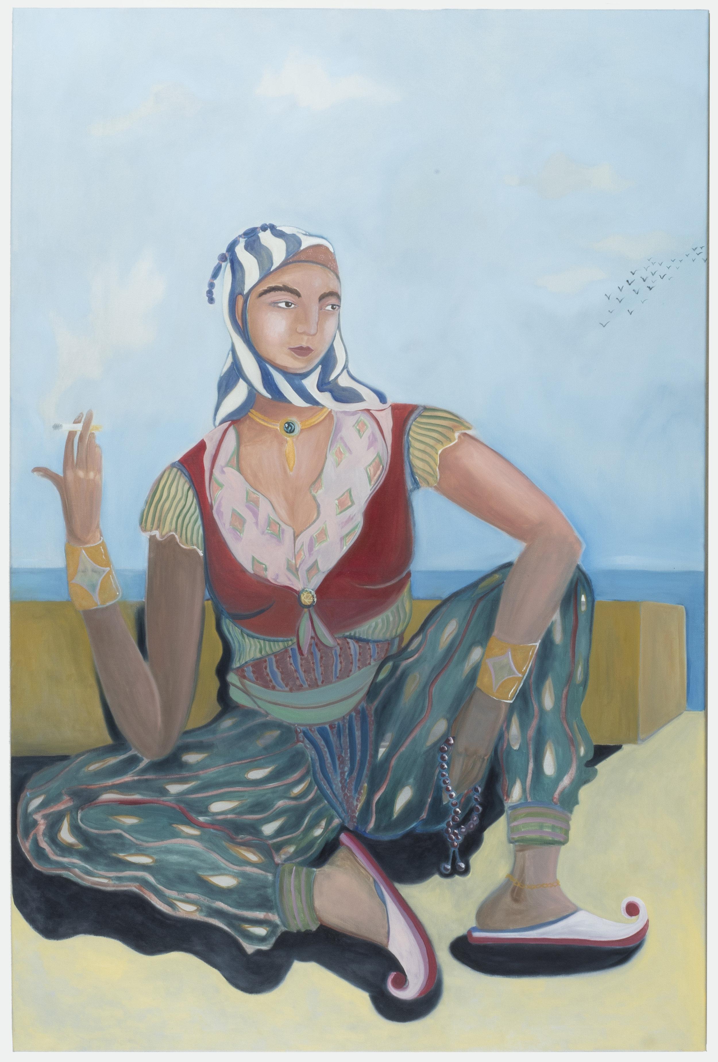 Sapho Waiting for Summer   180 x 120 cm / oil on canvas