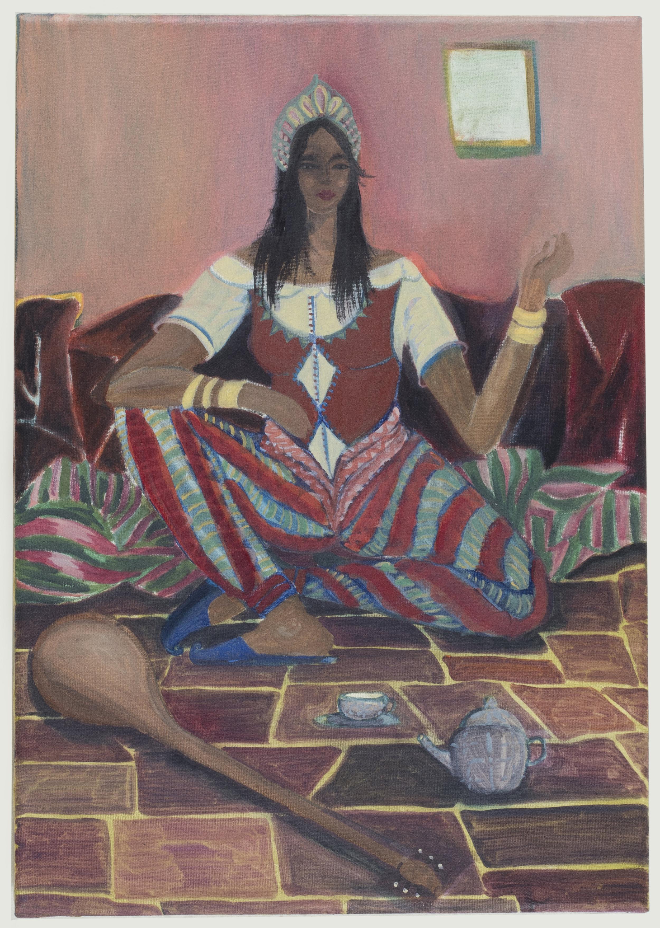 Chanoum No2 ( Χανουμάκι Νο2 )   45 x 30 cm / oil on canvas