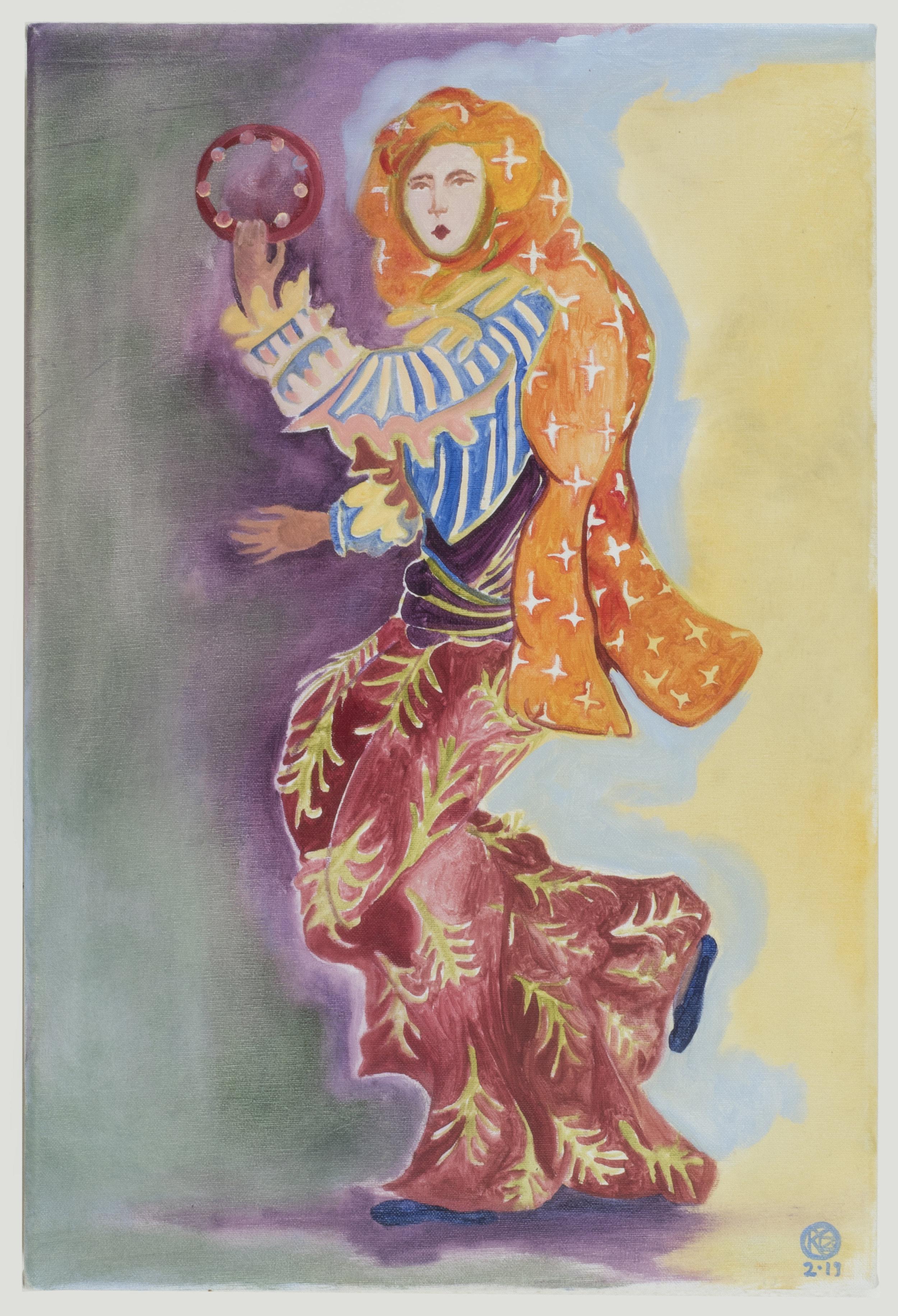 """Ατσιγκανα με Φωναζουν (They Call me """"Gypsie"""")   50 x 30 cm / oil on canvas"""