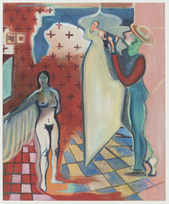 Κανταδα στο Παραθυρο του Μπανιου    (Song by the Bathroom Window)   45 x 55 cm / oil on canvas