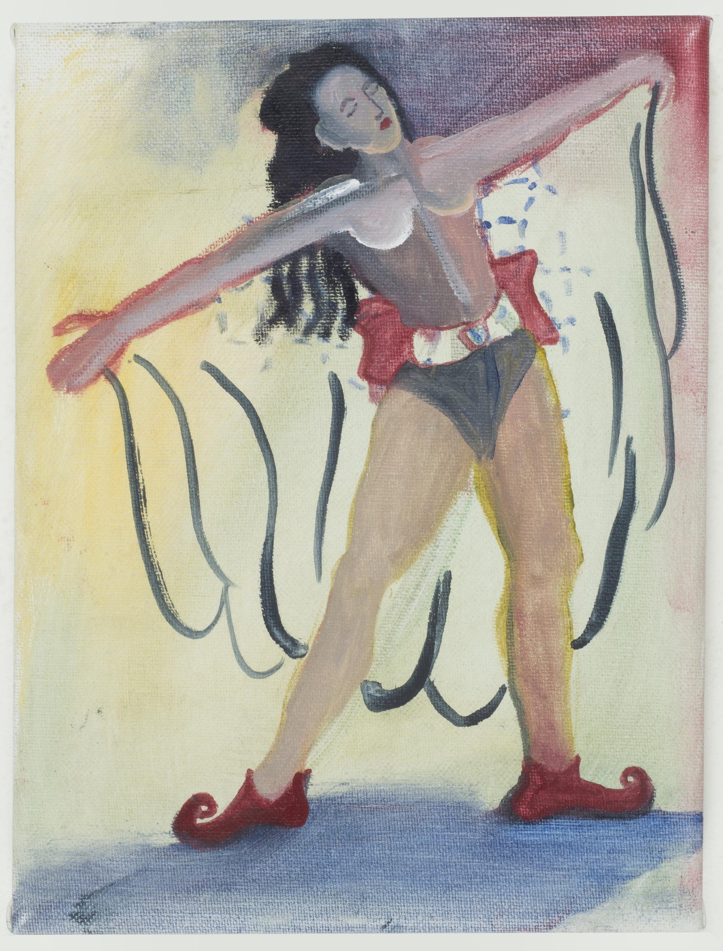 Modern Heroine   20 x 12 cm / oil on canvas