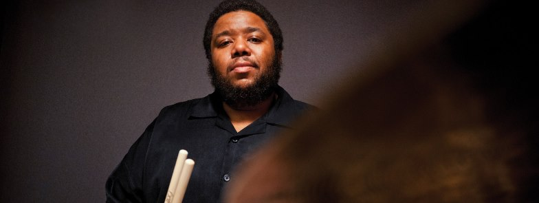 """Thursday September 27th 7PM  Presented by University of MD and The Clarice: Artist Partner Program  Join MacArthur Fellow Tyshawn Sorey for a conversation with UMD faculty member Will Robin as they explore the role of improvisation in contemporary classical music and talk about how to create a """"conduction"""" or conducted improvisation.  Free, no tickets required."""