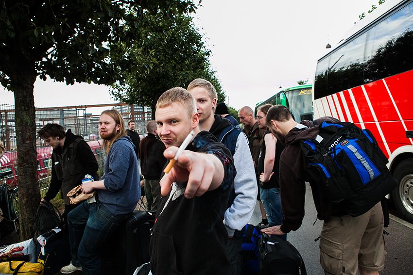 Wacken Metal Battle 2012:Waiting in Copenhagen. Photo: © Eija Mäkivuoti.