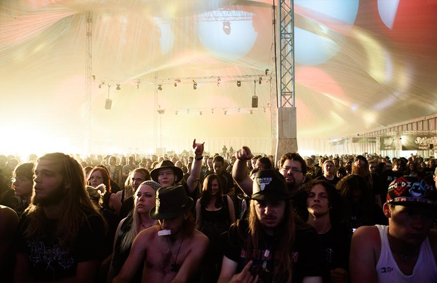 Wacken Metal Battle 2012:  Hamferð audience.    Photo: © Eija Mäkivuoti.