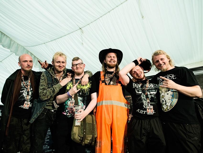 Wacken Metal Battle 2012: Winners on stage.Photo: © Eija Mäkivuoti.