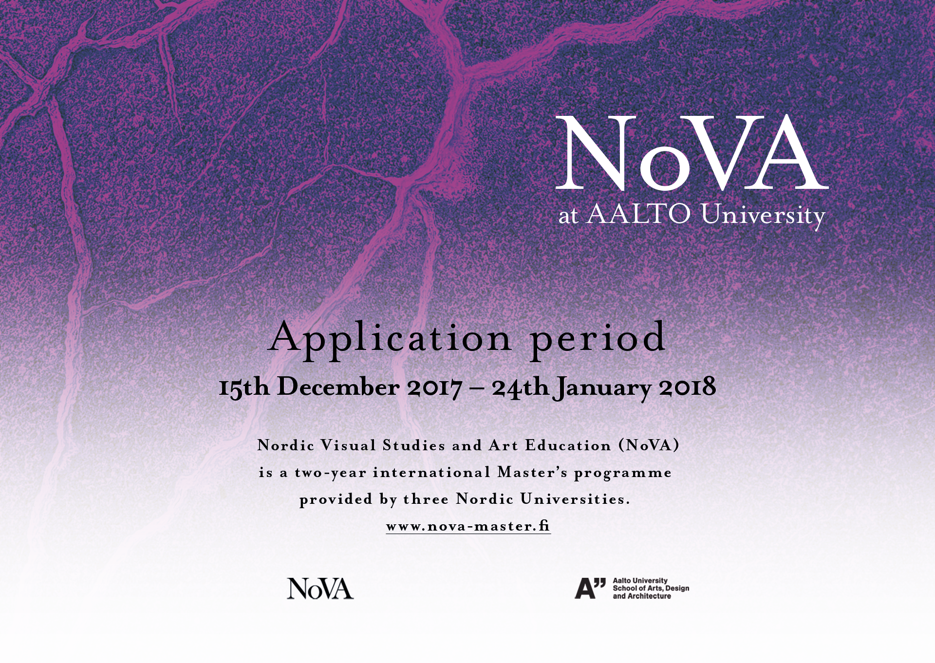 NoVA Programme Web Graphics, 2017
