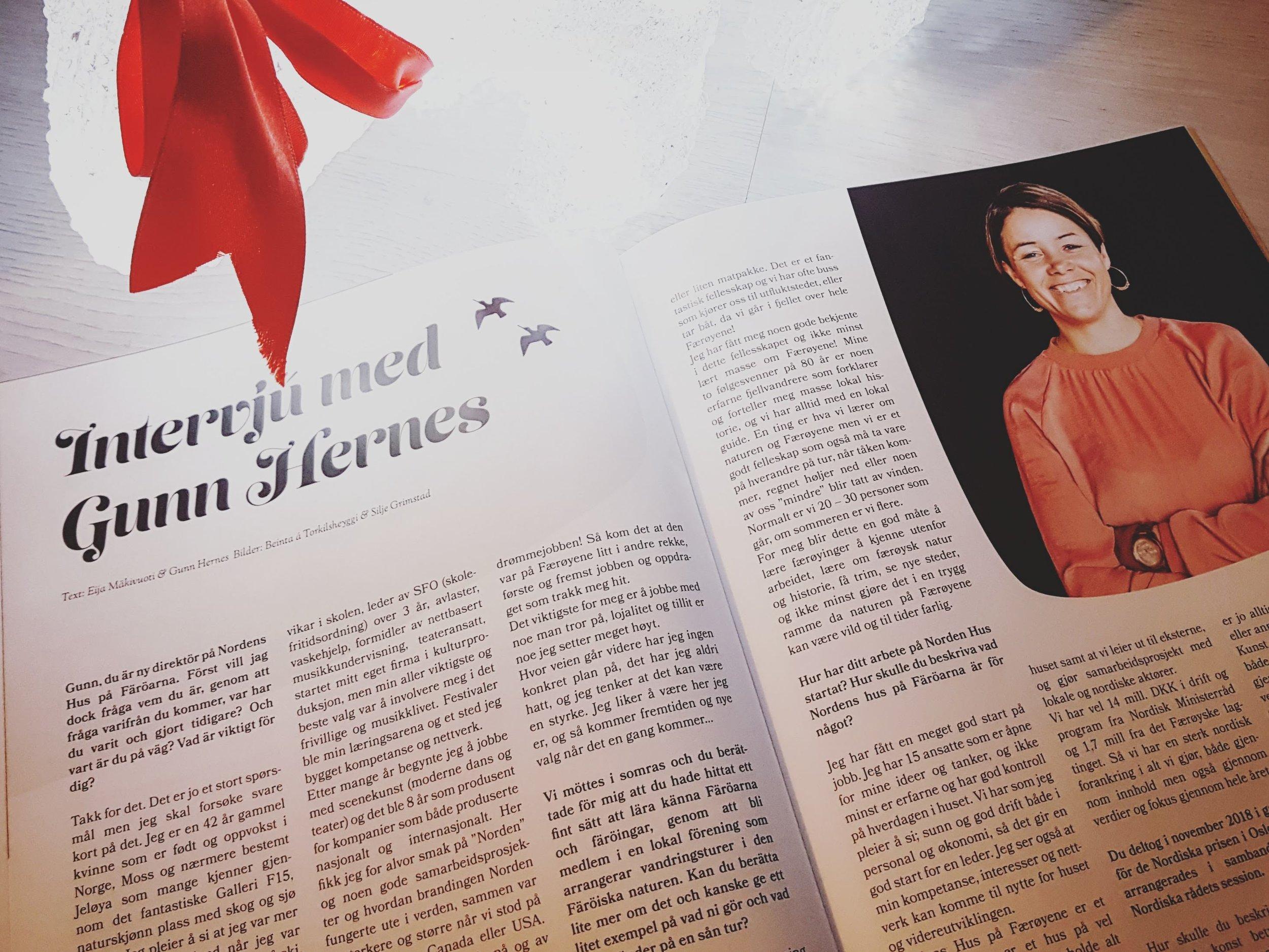 Tjaldur Tiðindi 2018 | Interview with Gunn Hernes
