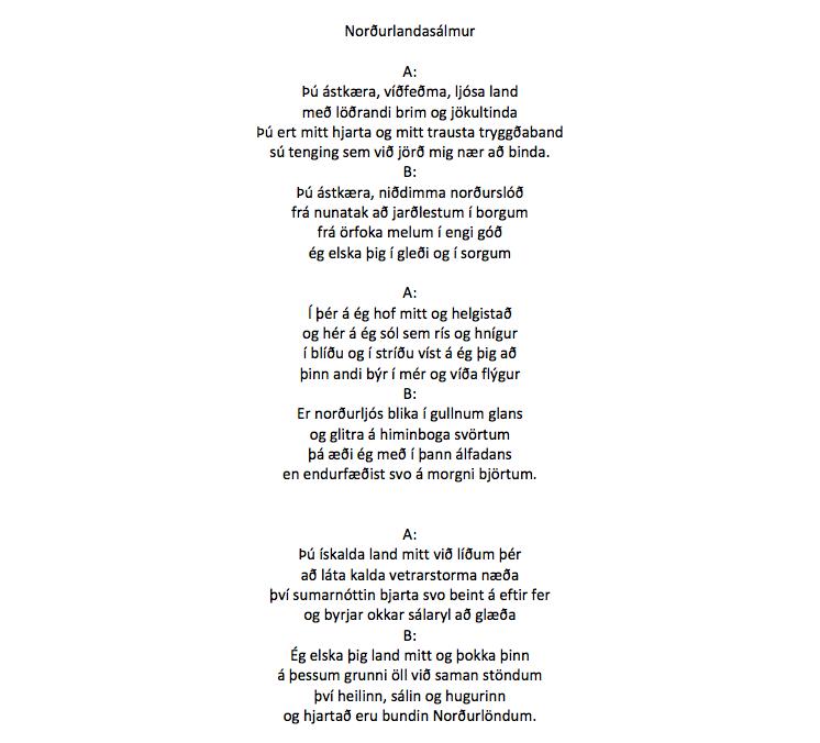 Islandsk oversættelse // oversat af Thorarinn Eldjarn